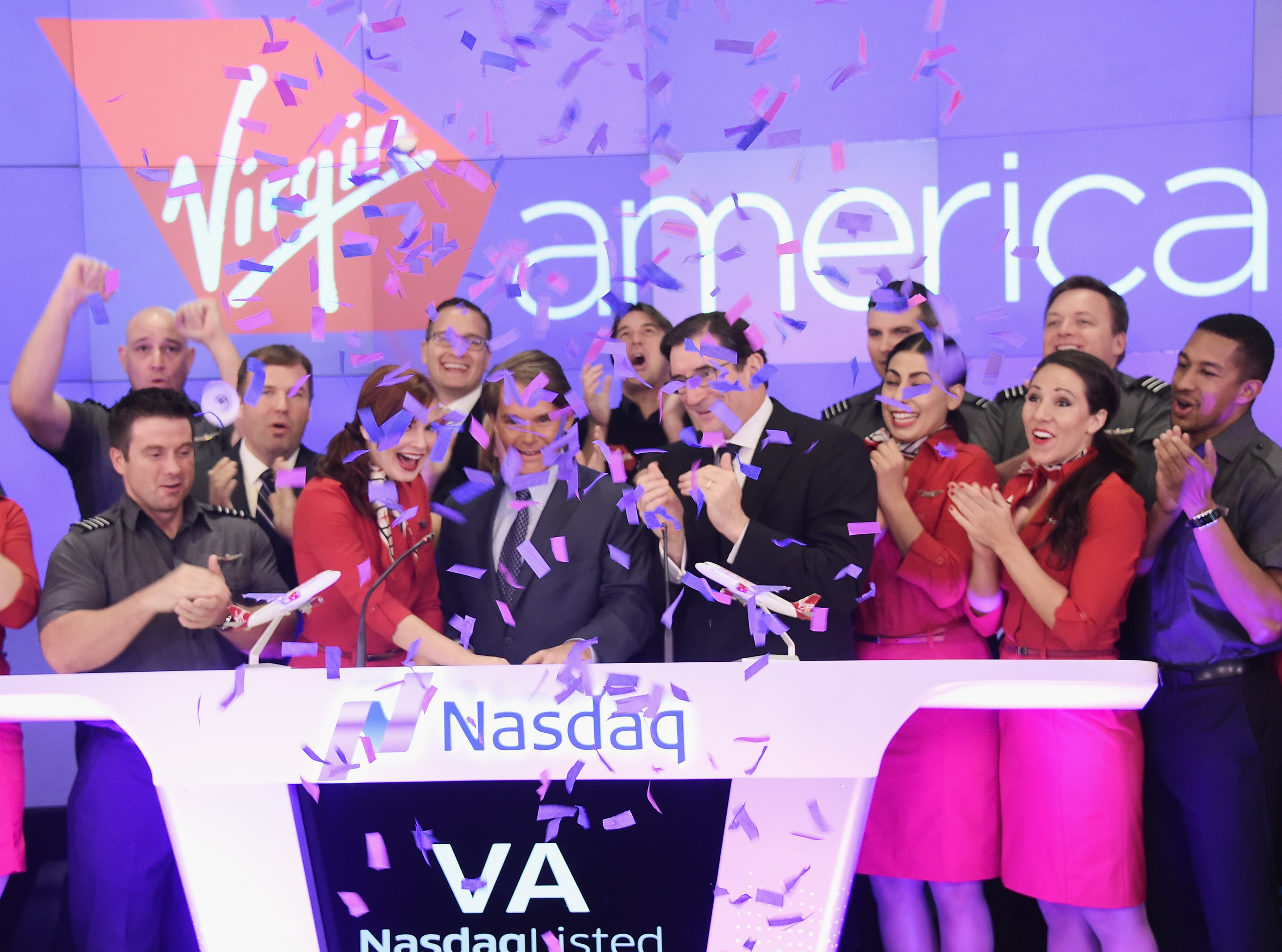 Virgin America Airline Debuts On Nasdaq Exchange
