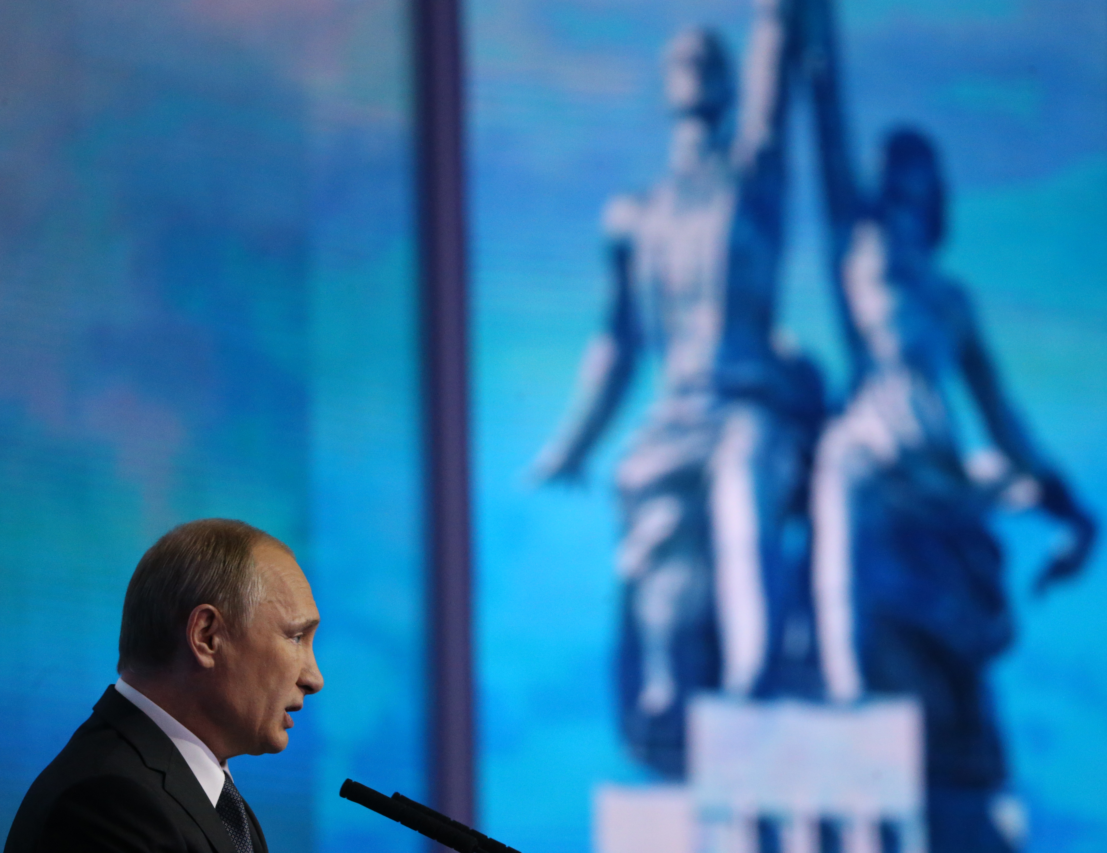 Russian President Vladimir Putin Attends United People's Front Forum