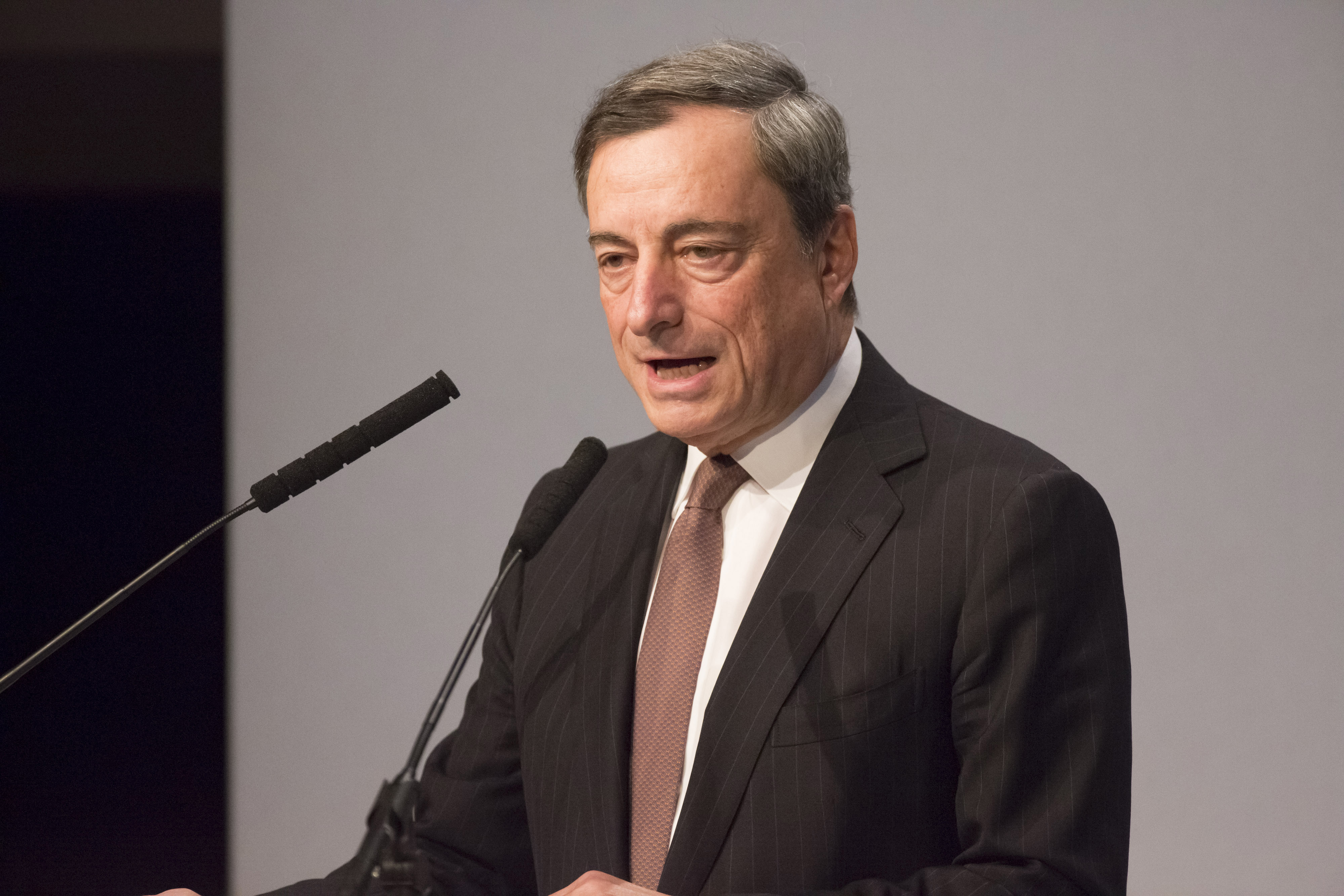 European Central Bank President Mario Draghi And Other Key Speakers At The European Banking Congress