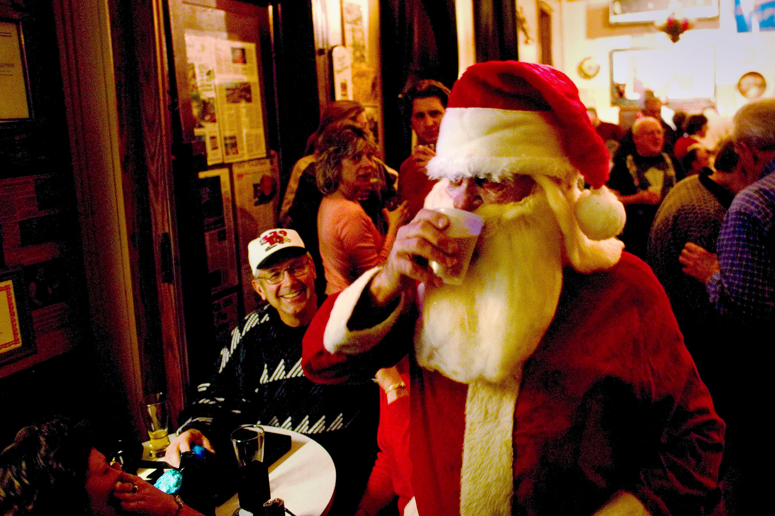 America's Last Remaining Concertina Bar Holds Its Holiday Party