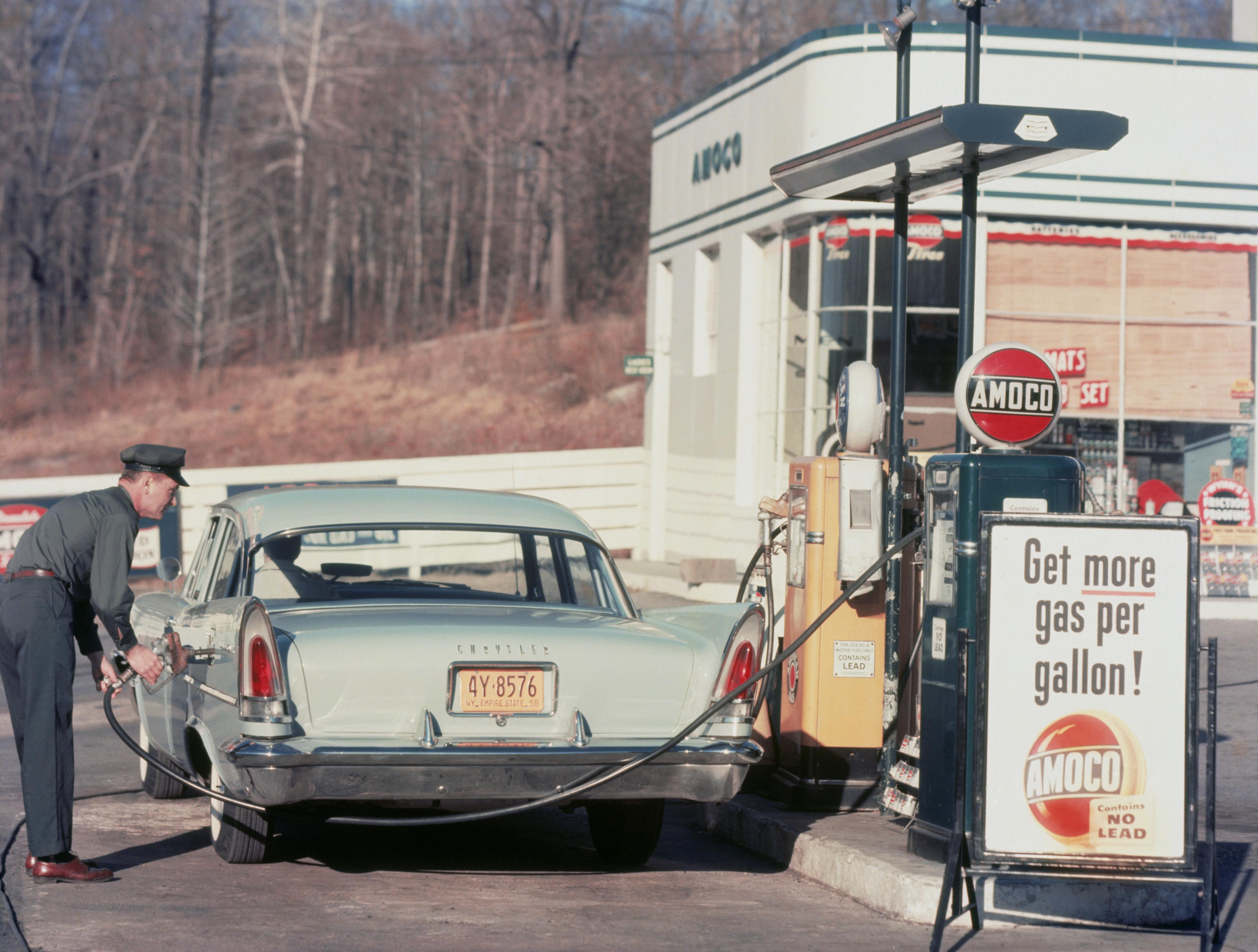 Chrysler At Gas Station