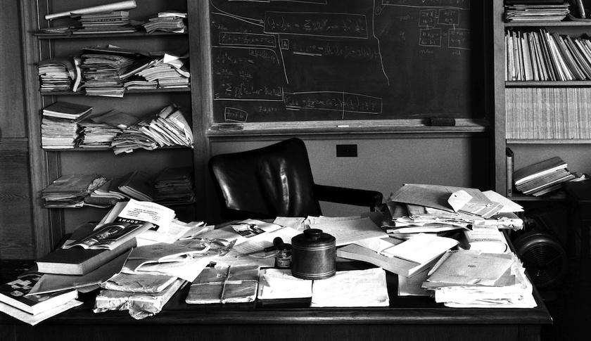 Einstein's office in Princeton, 1955