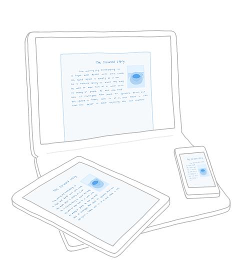 Dropbox devices illustration