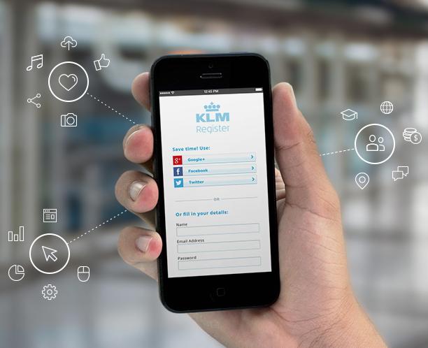 Gigya KLM mobile phone