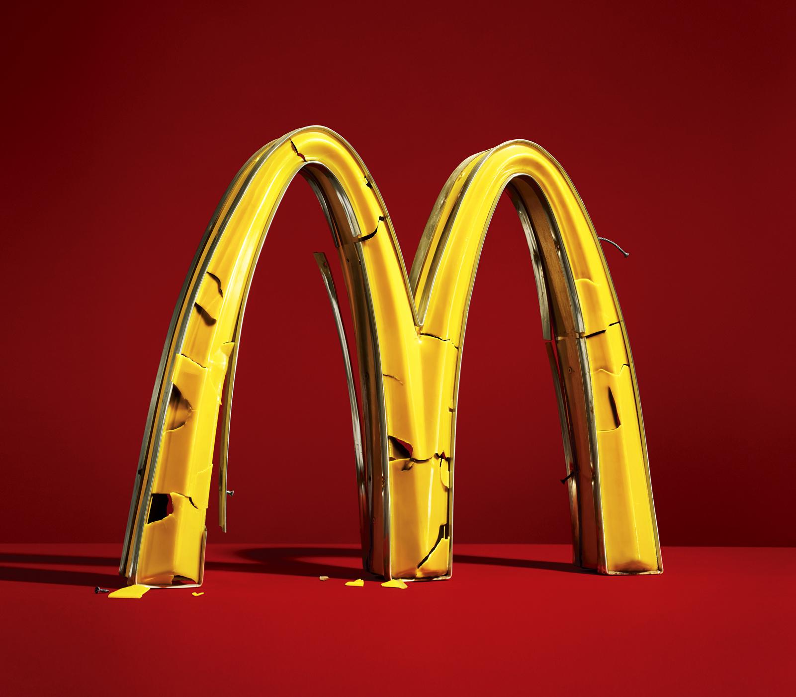 Fallen Arches, broken McDonalds arches