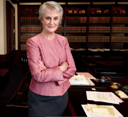 Judge Cote in her chambers