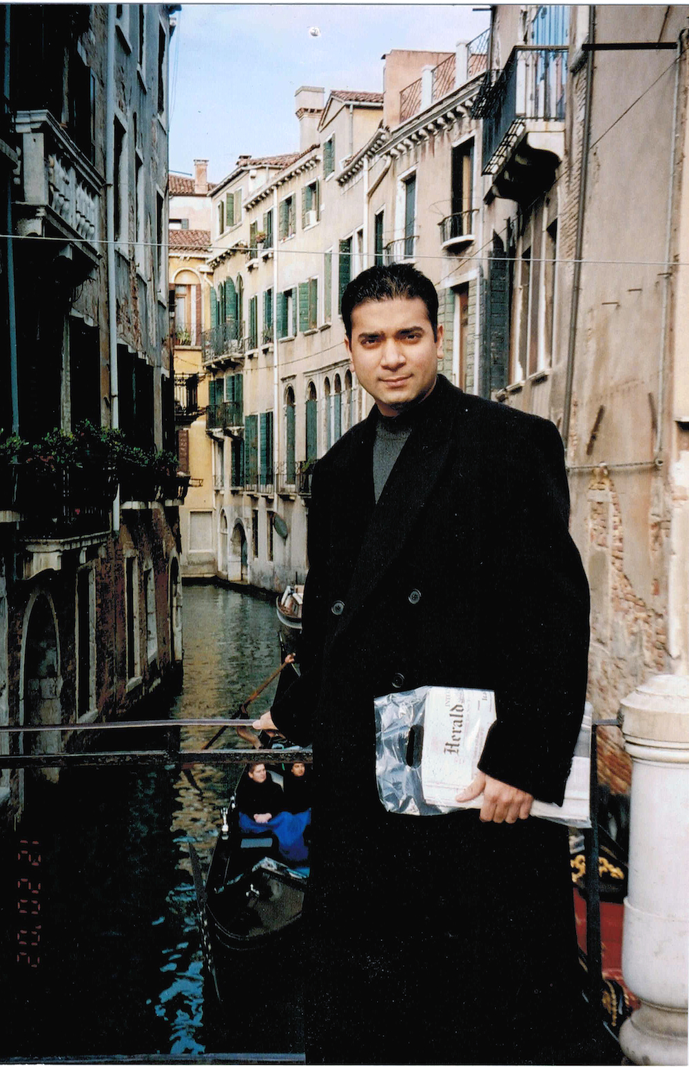 Sam Jain in Venice, Italy in December 2002 - now CEO of CheapOair and FarePortal