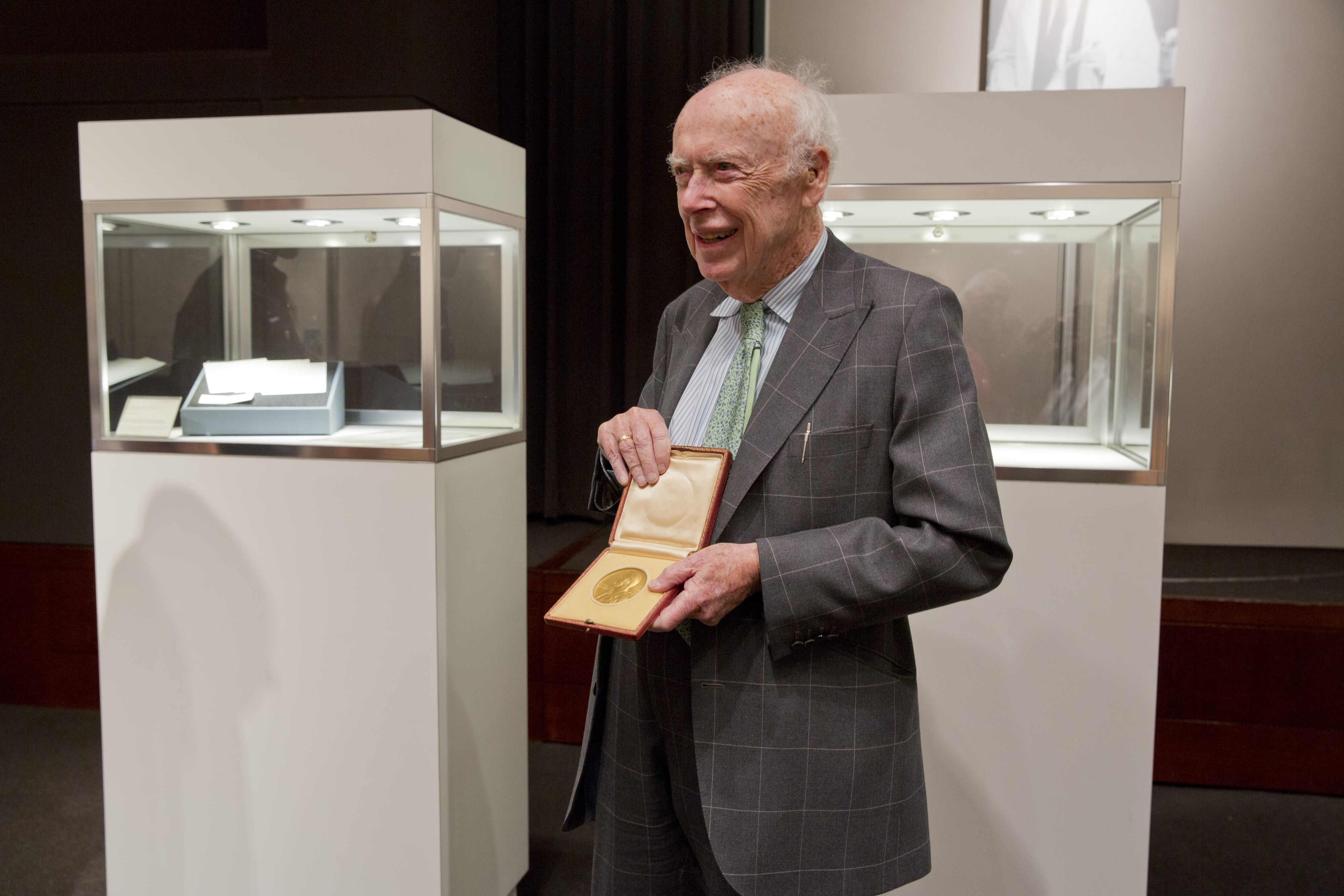 James Watson with medal.