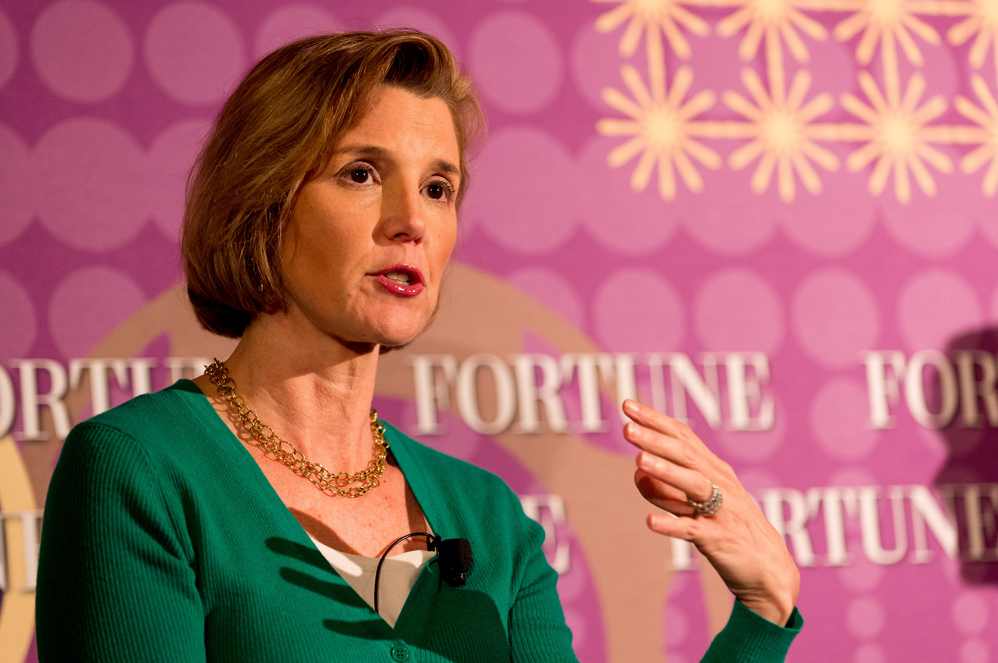 Ellevest CEO Sallie Krawcheck speaks at Fortune's Most Powerful Women Next Gen Summit in San Francisco in December 2014.