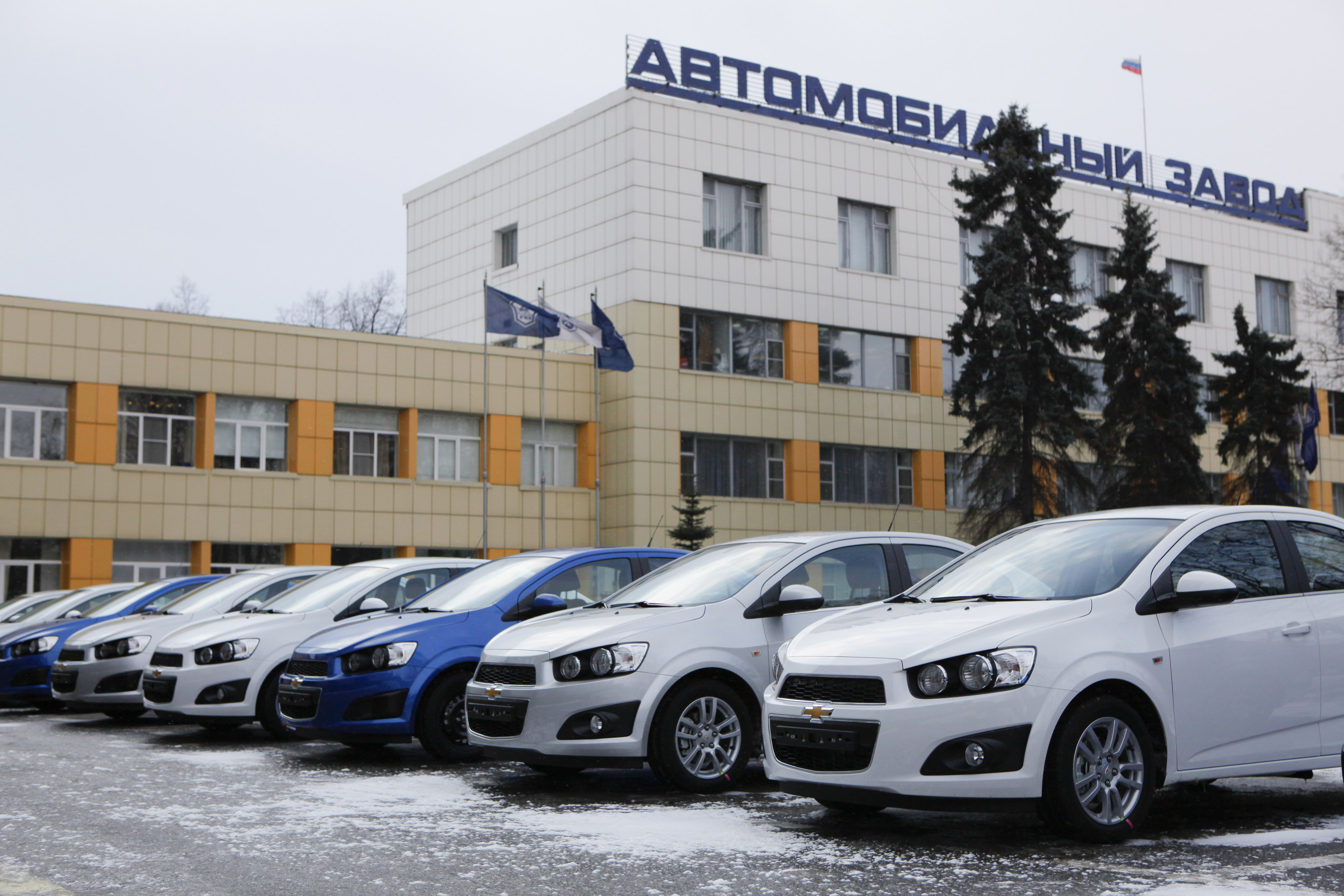 Launch Of General Motors Chevrolet Aveo Vehicle Production At Russian Automaker GAZ Group