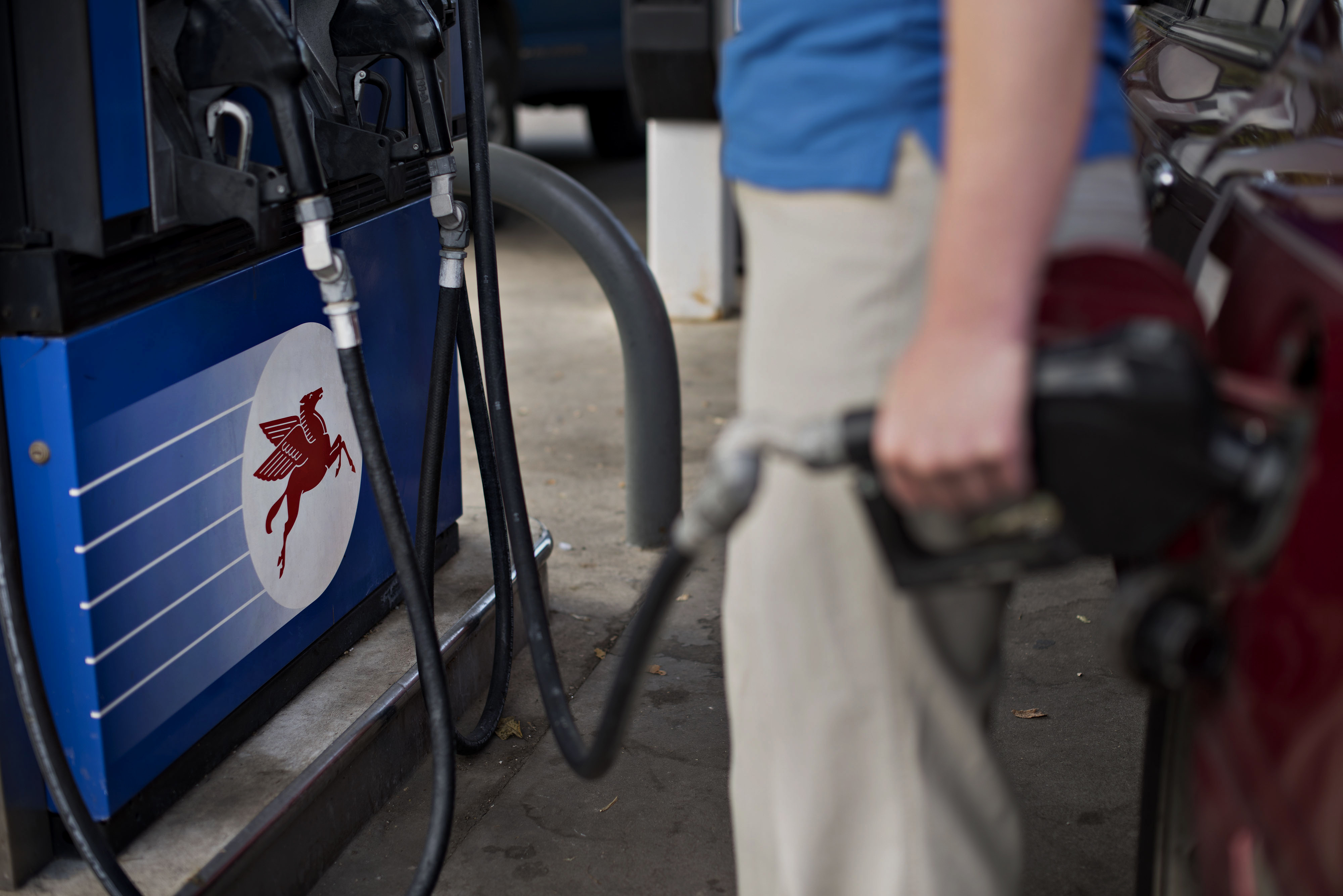 Exxon Mobil Corp. Gas Stations Ahead Of Earnings Figures