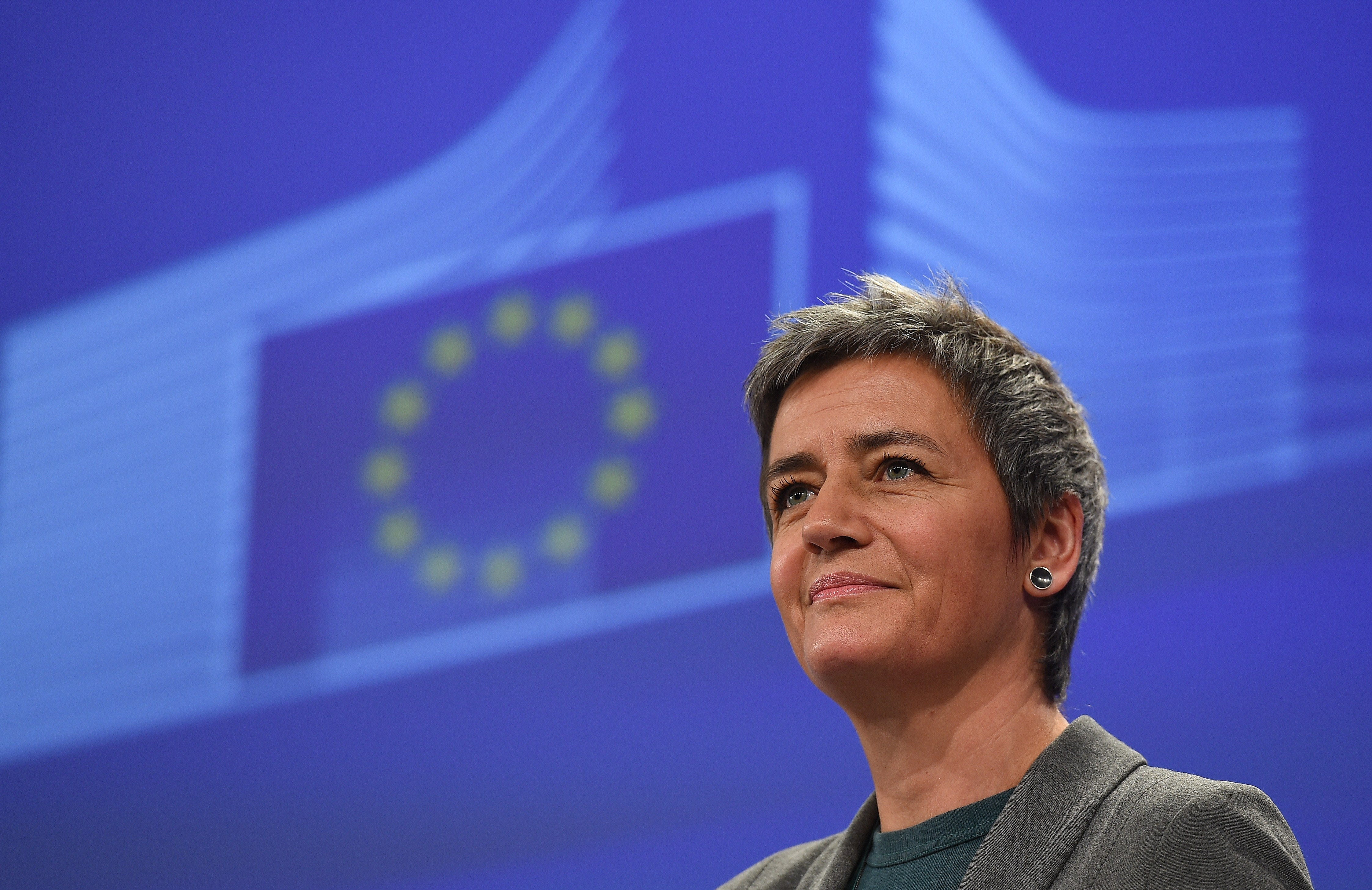 BELGIUM-EU-COMPETITION-VESTAGER
