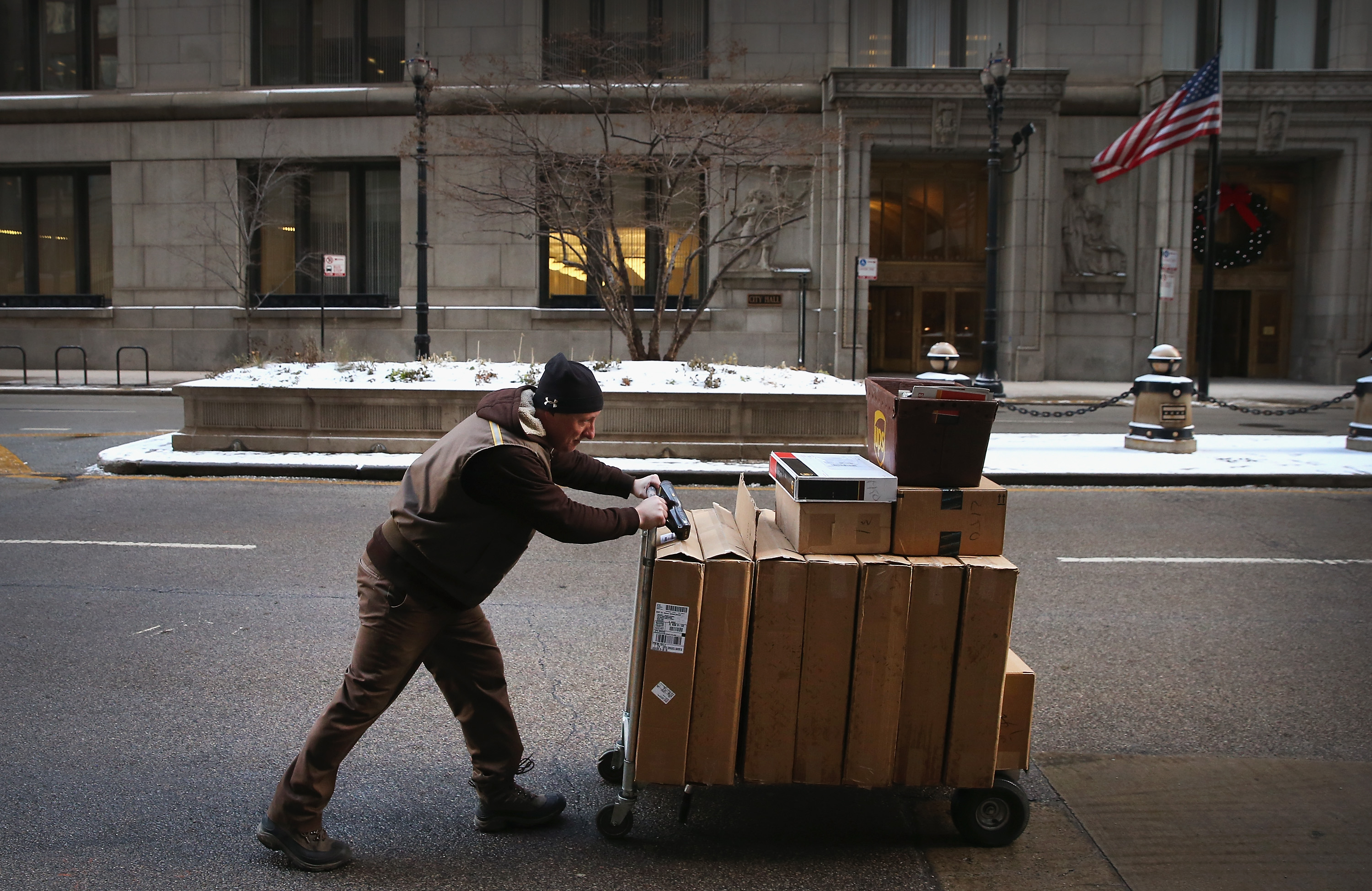 Package Shipping Companies Rush To Delivery Backlog Of Christmas Packages