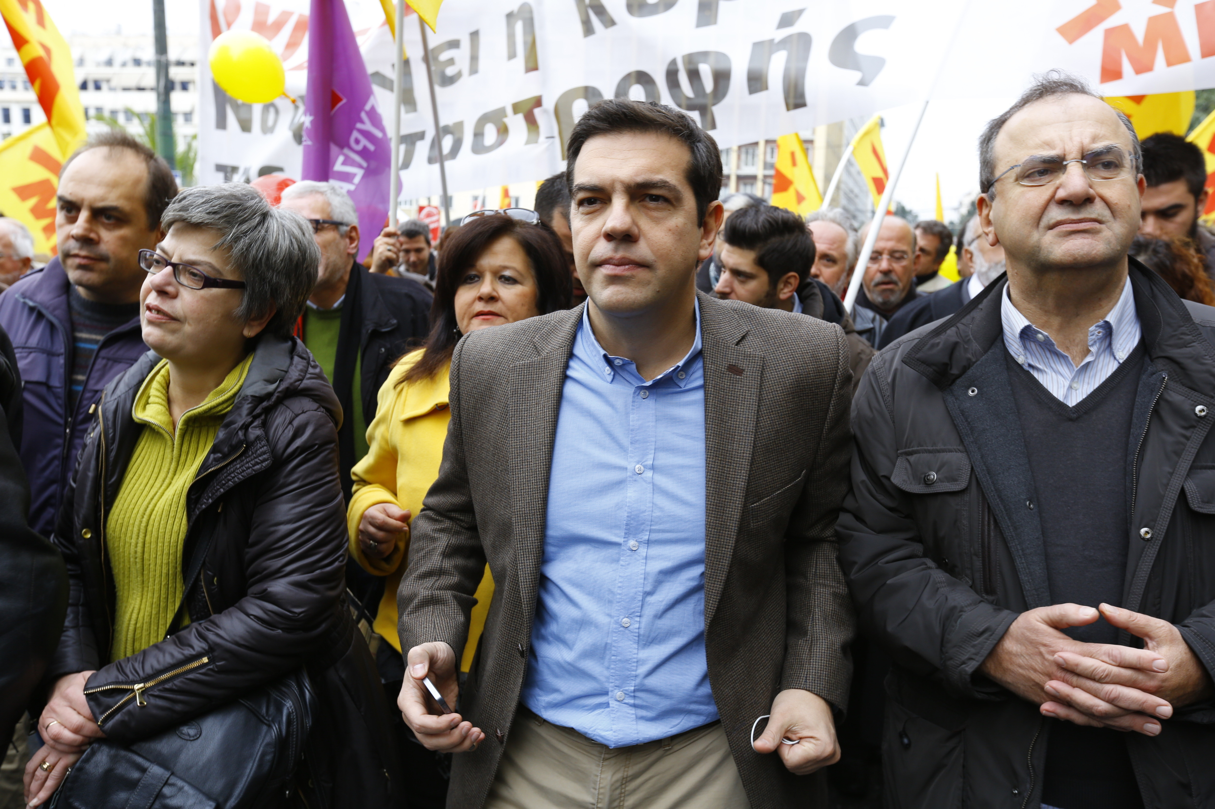 Alexis Tsipras, the leader of SYRIZA (Coalition of the