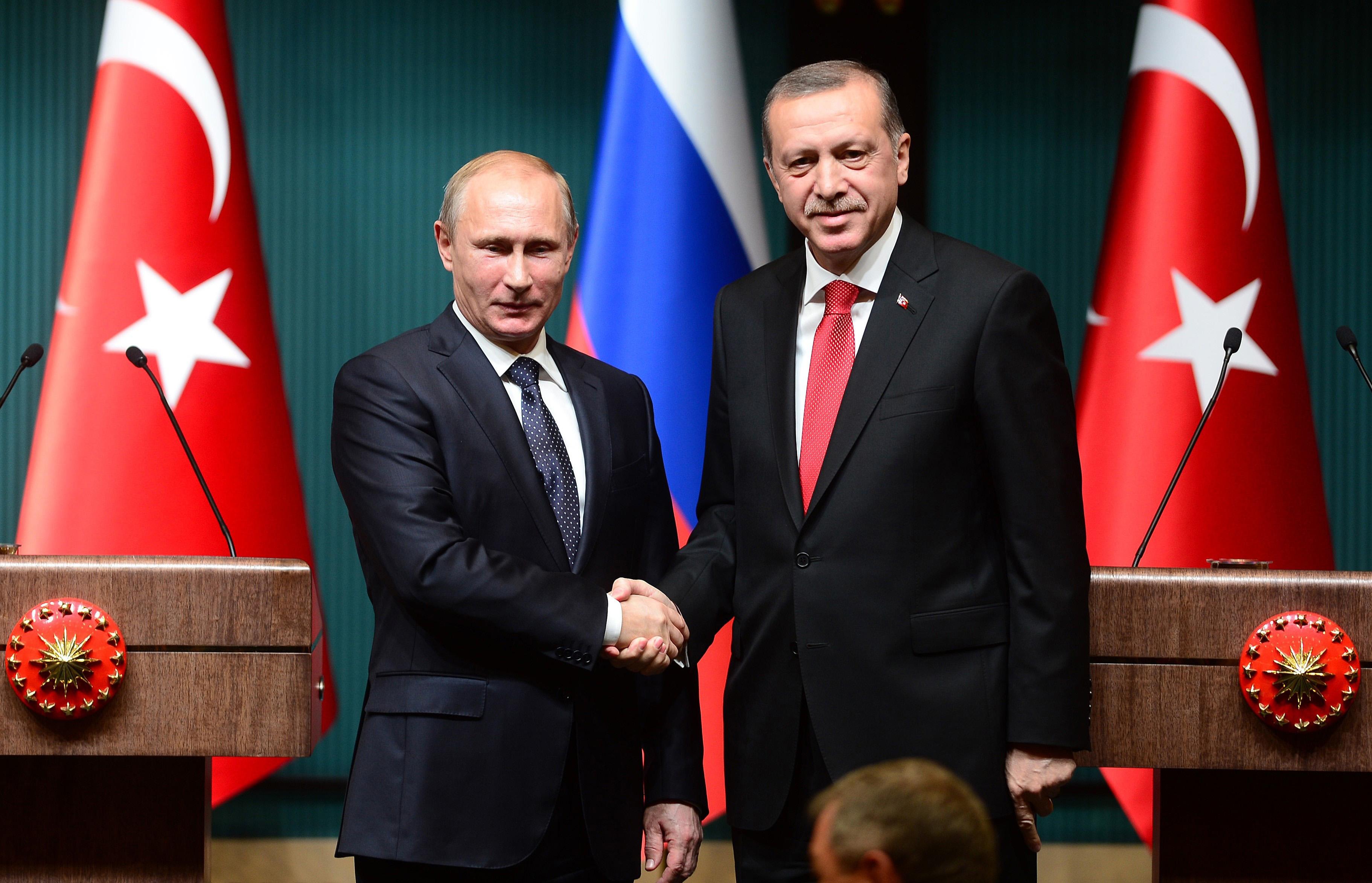 Press conference of Erdogan and Putin in Ankara