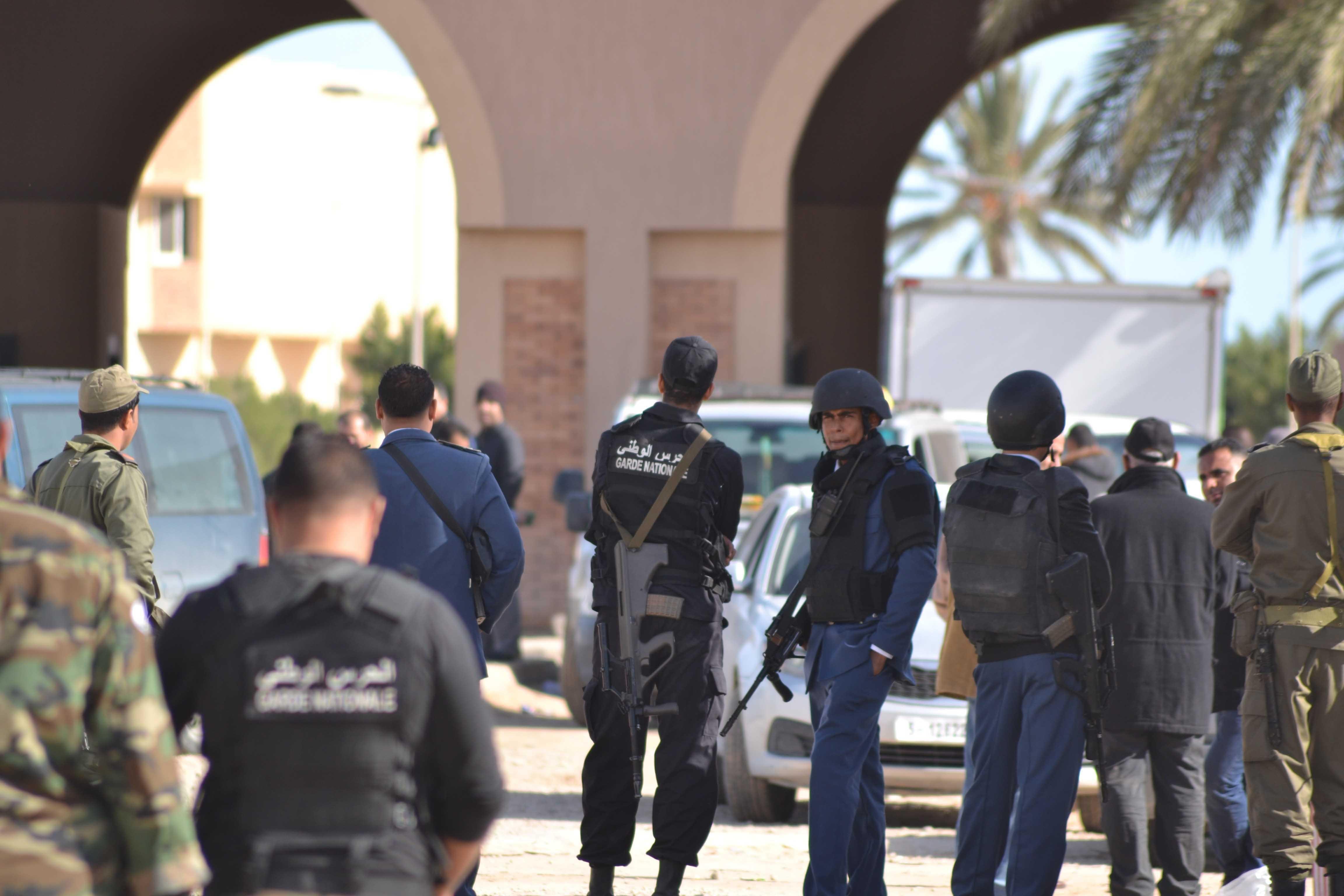 Ras Jedir border gate of Tunisia is closed off