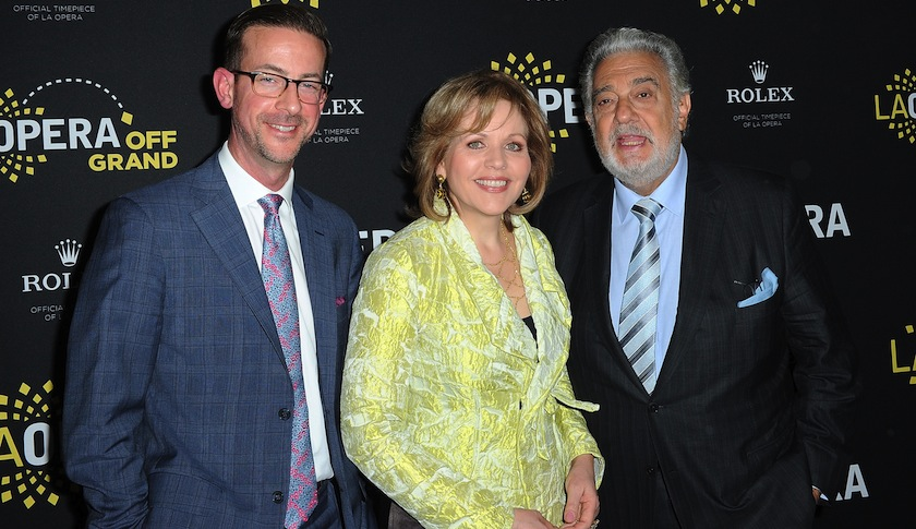Renee Fleming And Placido Domingo Q&A - Los Angeles, CA