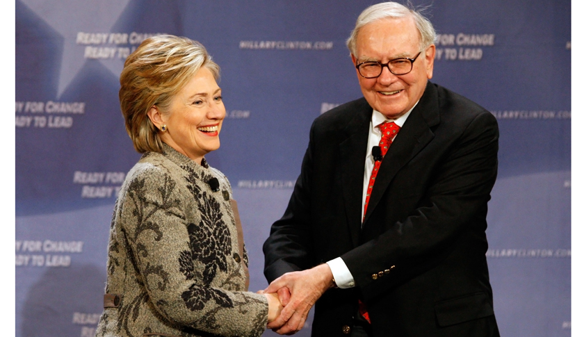 Hillary Clinton Meets With Investor Warren Buffett