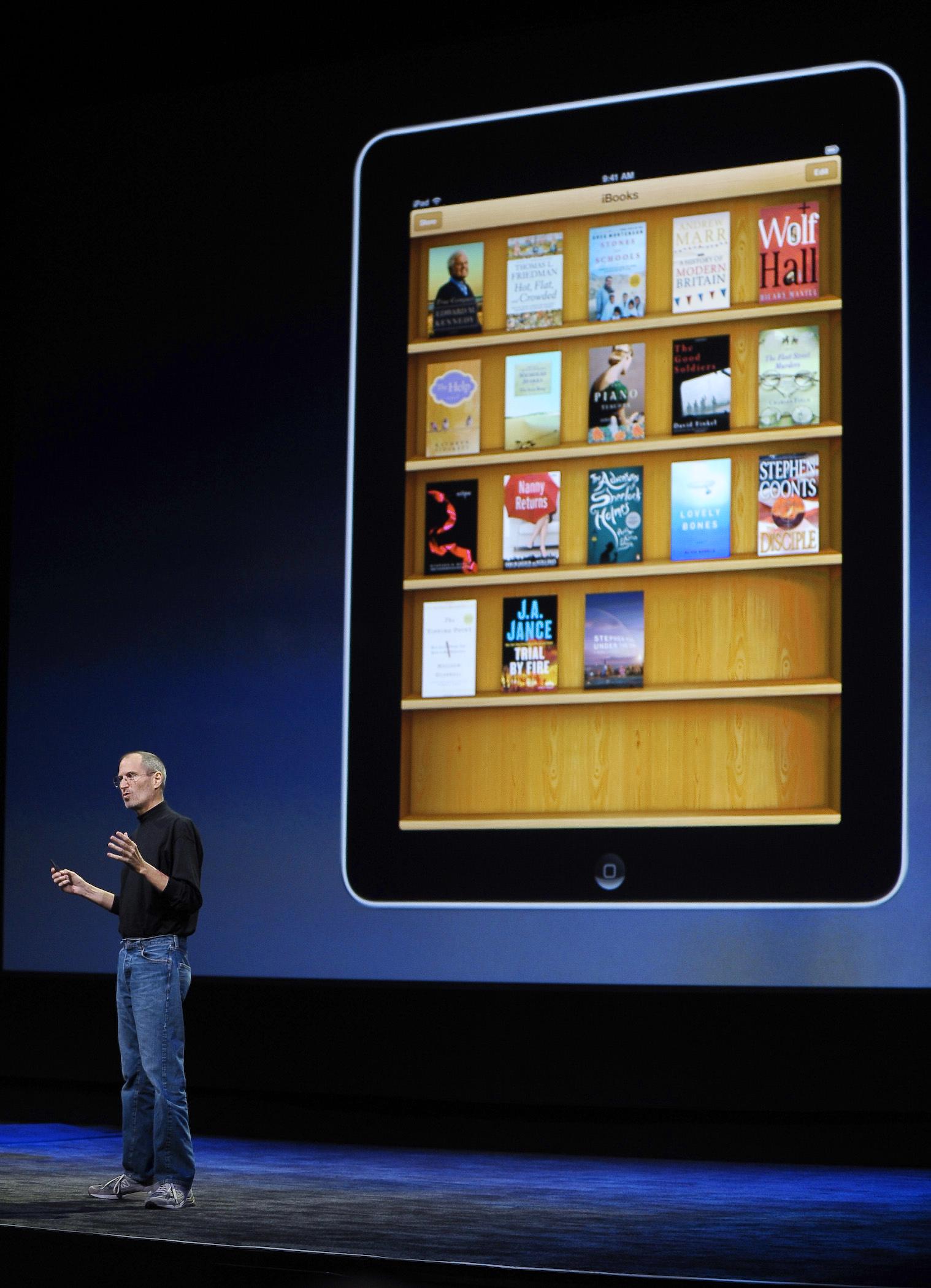 steve jobs, apple, ipad ibooks