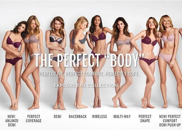 """269626b0ad4 At the end of October, Victoria's Secret came under fire for it """"Perfect  Body"""" campaign, which features ad copy playing on its """"Body"""" lingerie line."""