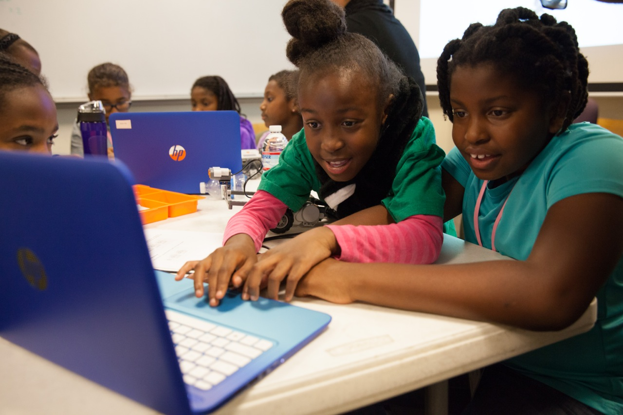Students at Black Girls Code's Robot Expo