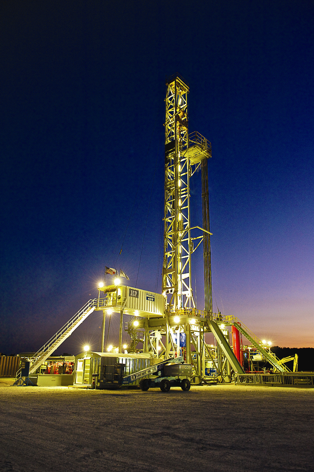 Eagle Ford Shale Drilling Rig in Texas.