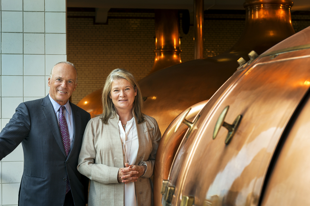 Michel de Carvalho with Charlene at Heineken headquarters in Amsterdam.