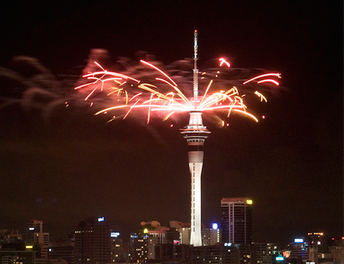 CROPPED: New Year's Auckland, New Zealand by Dan Eggenschwiler