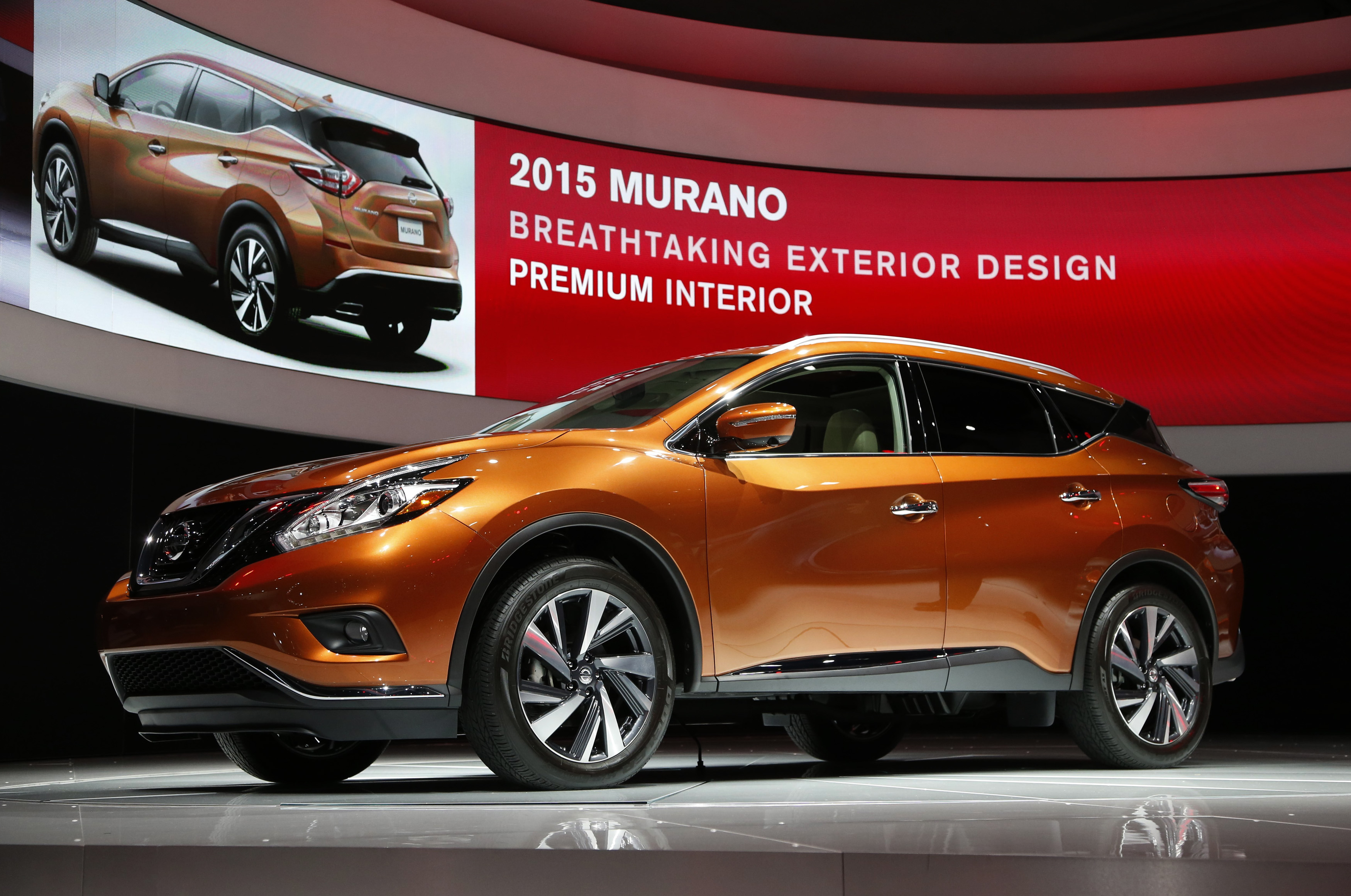 The 2015 Nissan Murano is seen in its North American debut at the Los Angeles Auto Show in Los Angeles, California