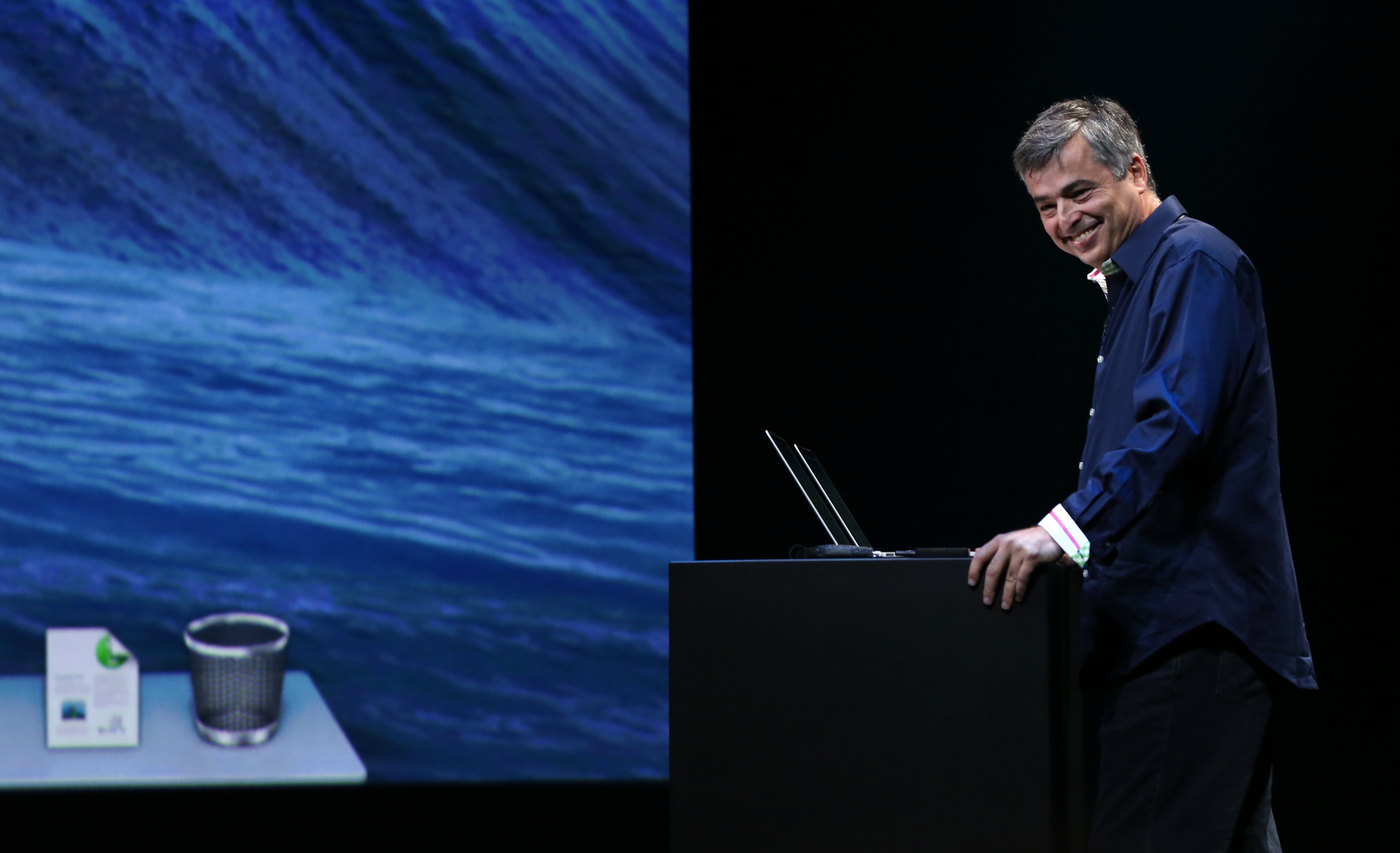 Eddy Cue, Apple Inc. Senior Vice President of Internet Software and Services, speaks during an Apple event in San Francisco
