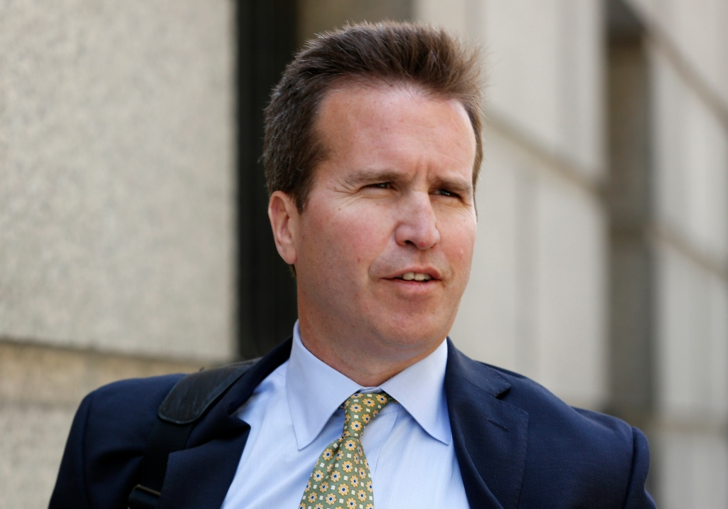 Newman, Diamondback Capital Management portfolio manager, exits the United States Court in Manhattan