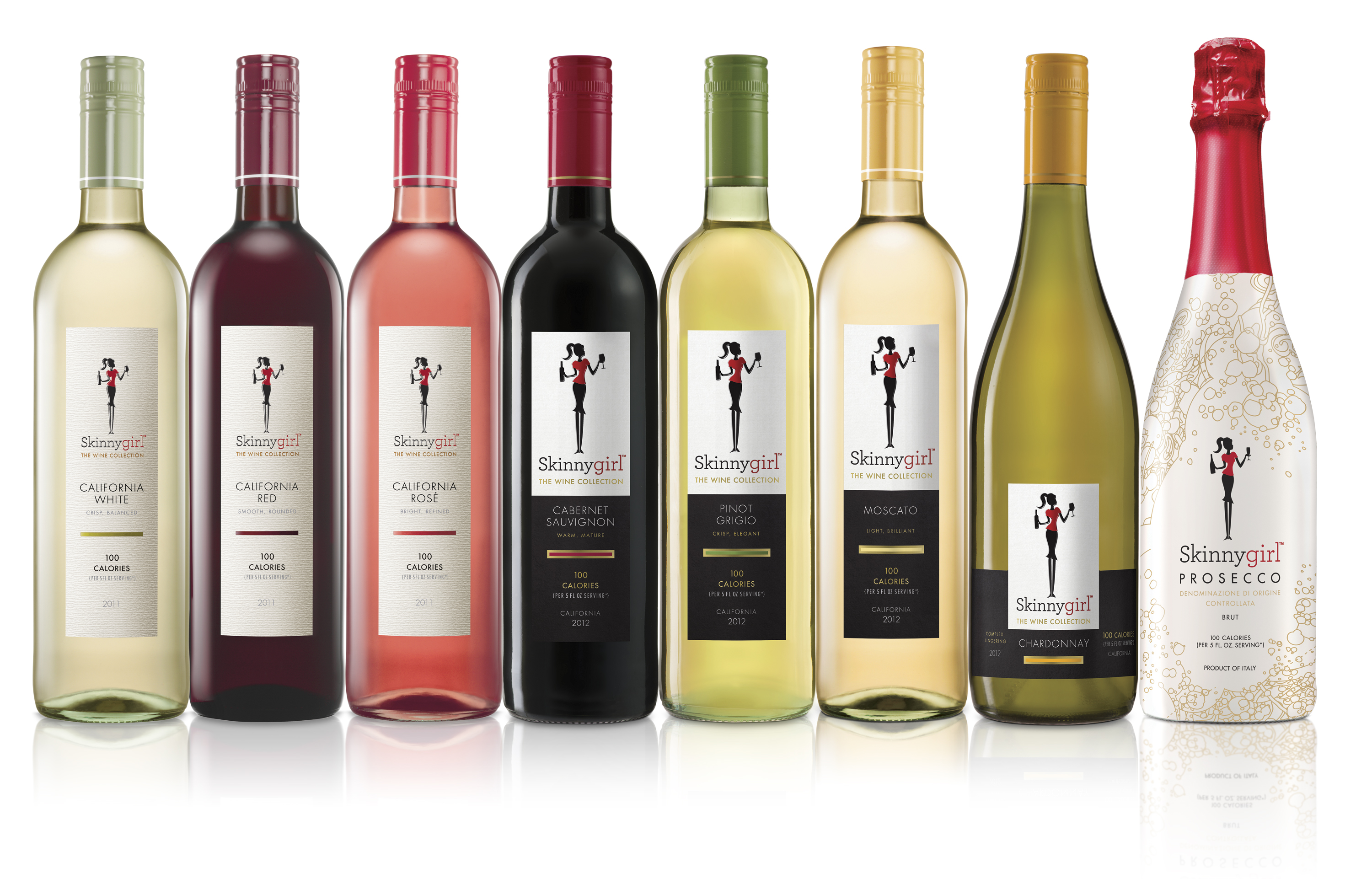 The Skinnygirl brand, founded by reality TV star Bethenny Frankel, has a line of low-calorie wines.