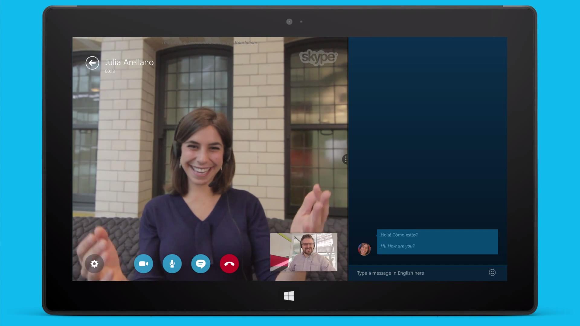 Skype Translator screenshot