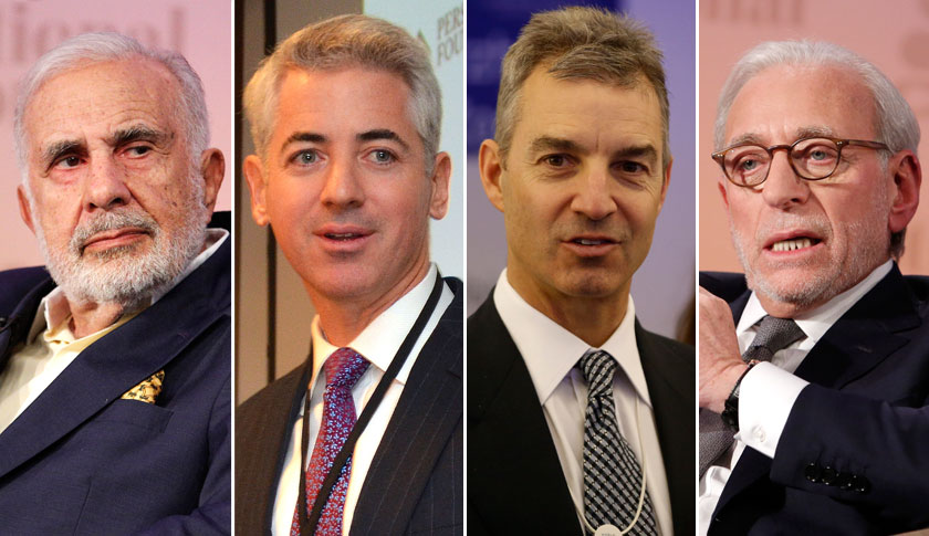 Carl Icahn, left, Bill Ackman, Daniel Loeb and Nelson Peltz. All are well known activist investors.