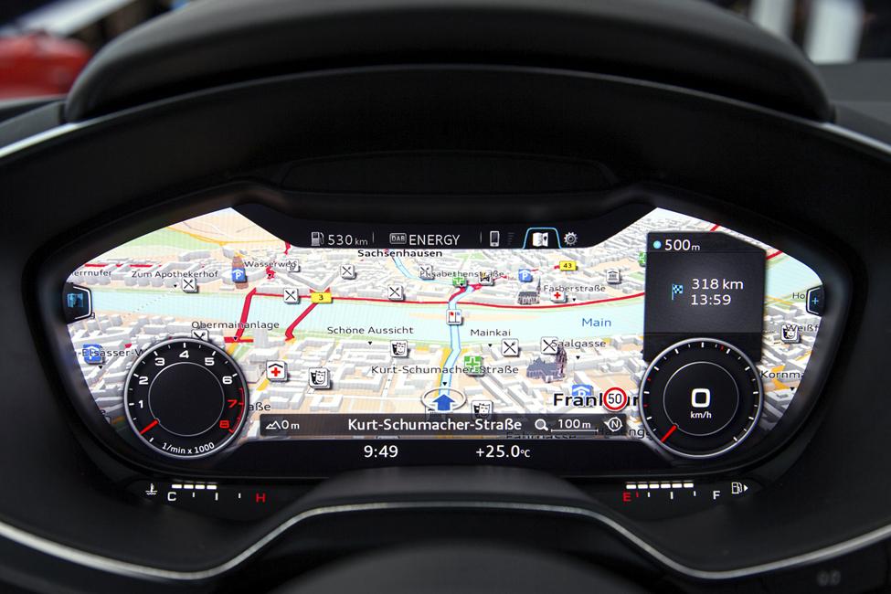 Audi TT's virtual cockpit