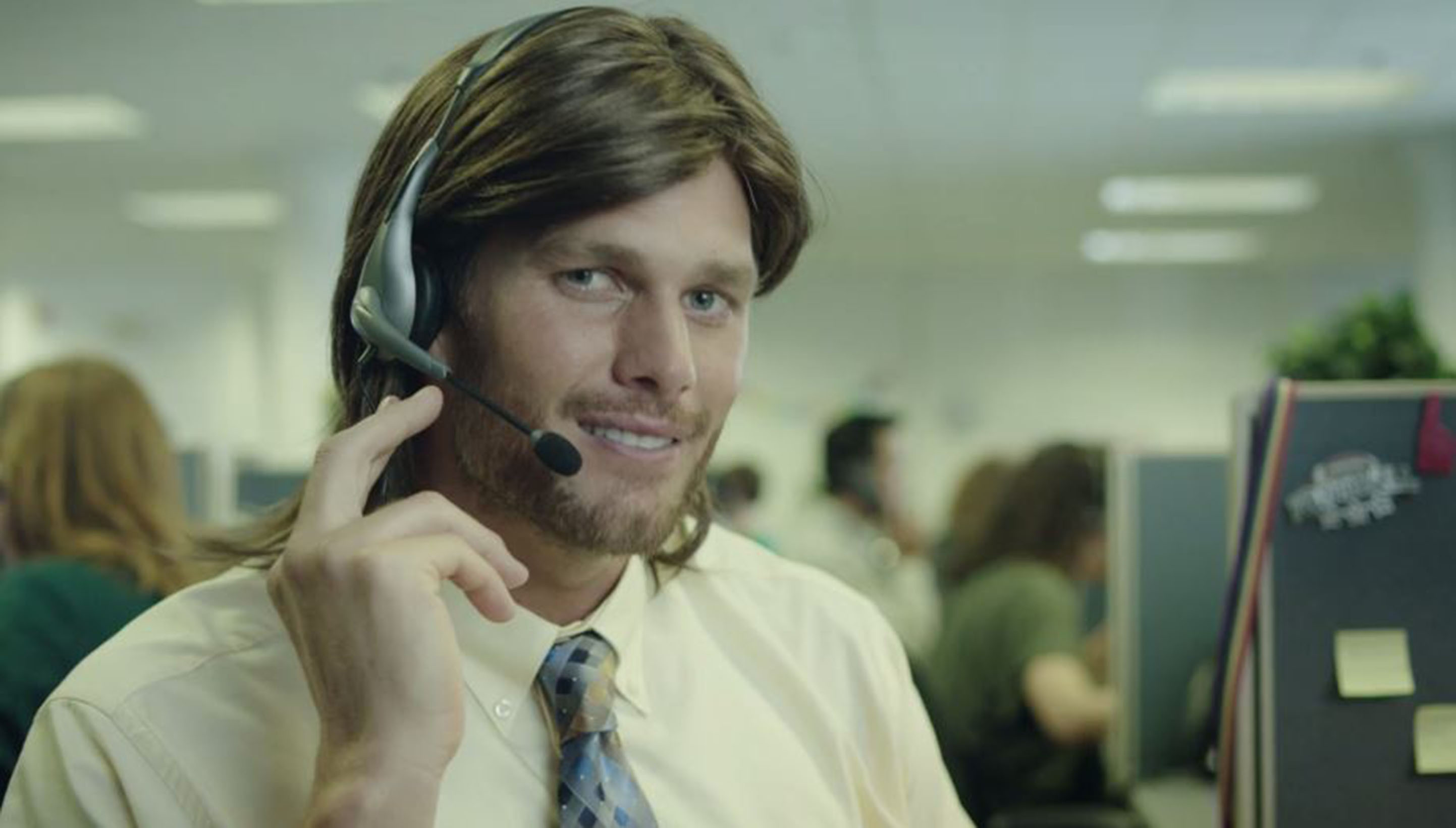 Tom Brady as a telemarketer in the Daily MVP ad.