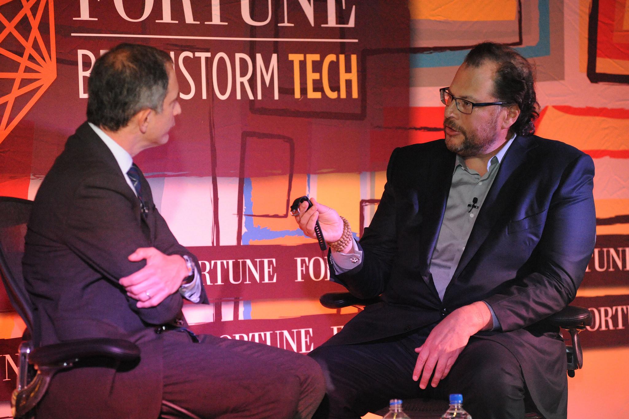 Marc Benioff Fortune Brainstorm Tech dinner Las Vegas 2015