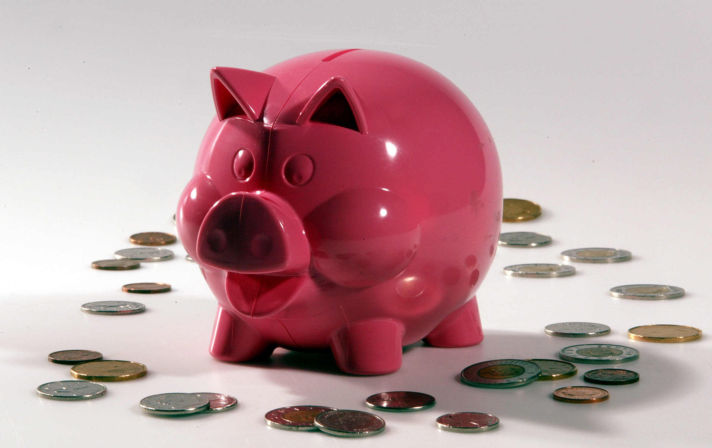 Pink Piggy Bank for Body and Soul column on obsessive piggy bank collecting.