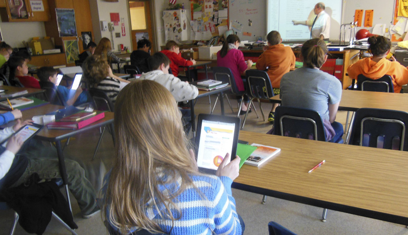 Using iPads in the Classroom, Wellsville, New York