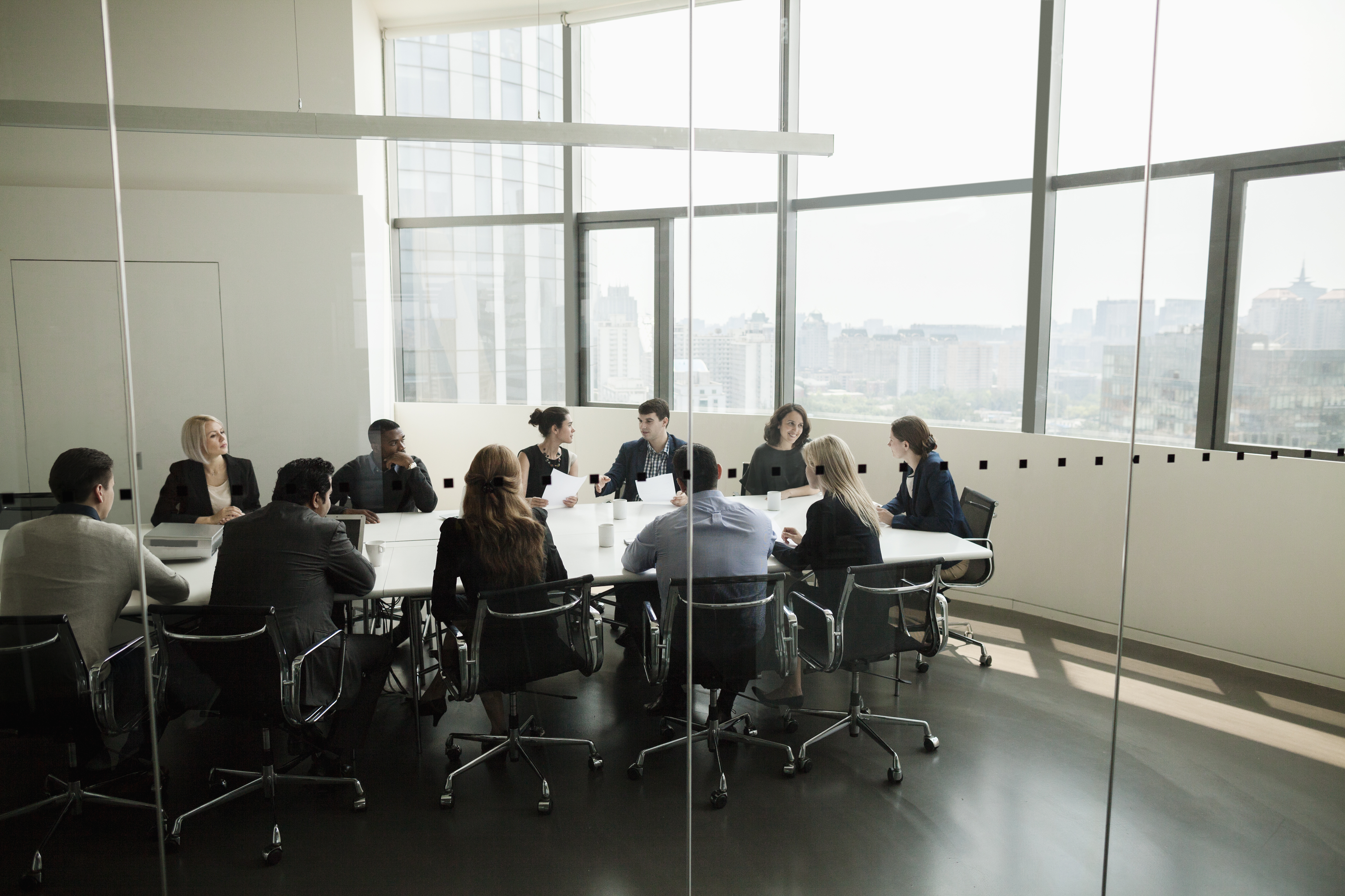 Group of business people having a business meeting