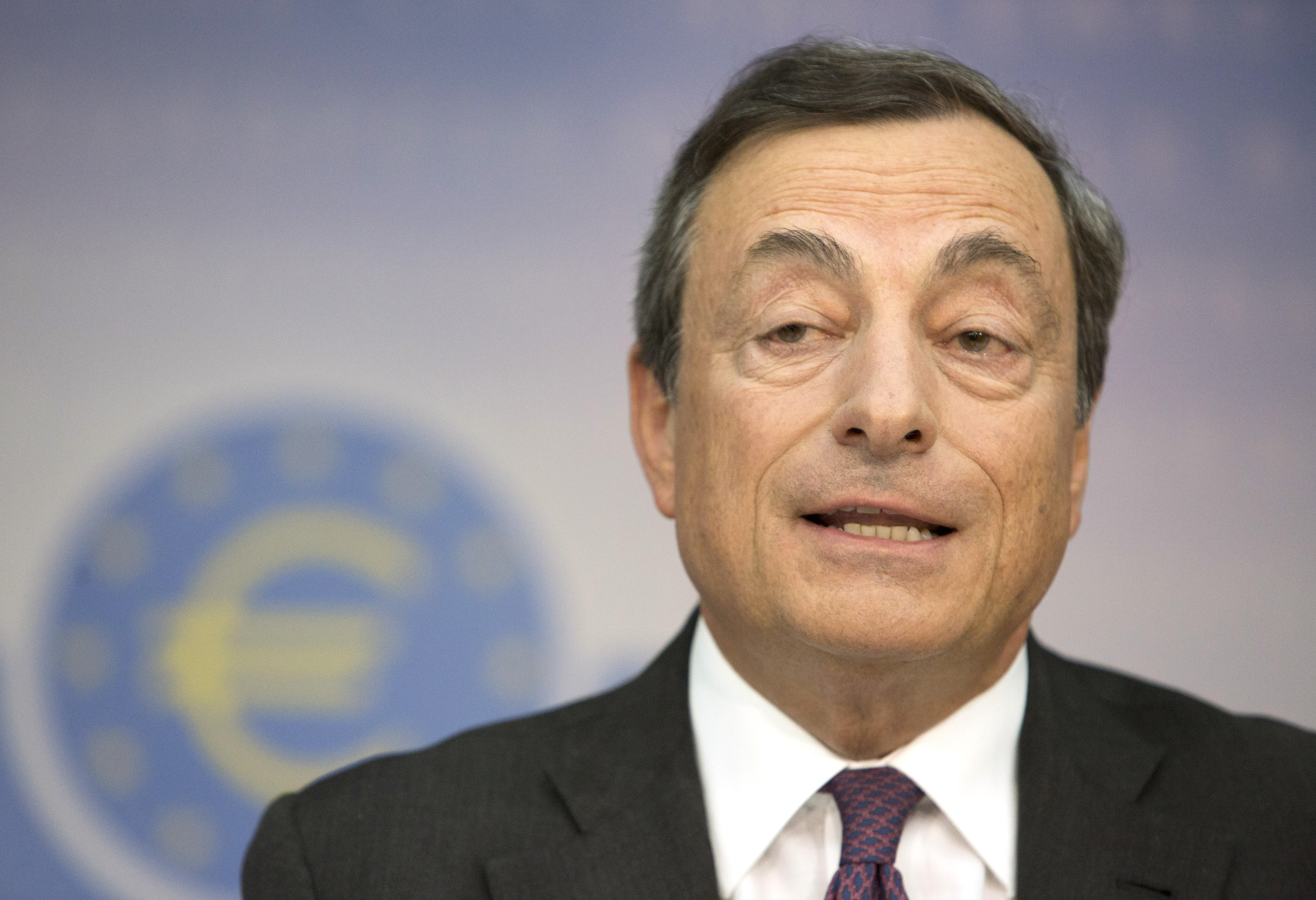 ECB President Mario Draghi Rates Conference