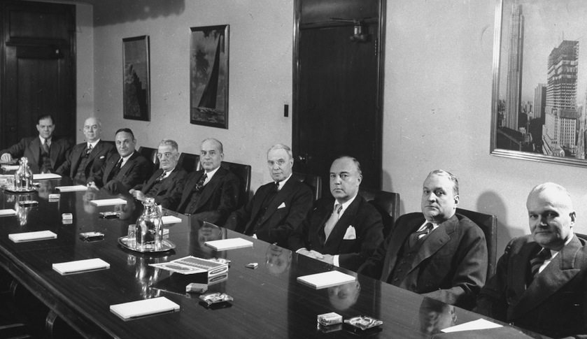 white men board 1946