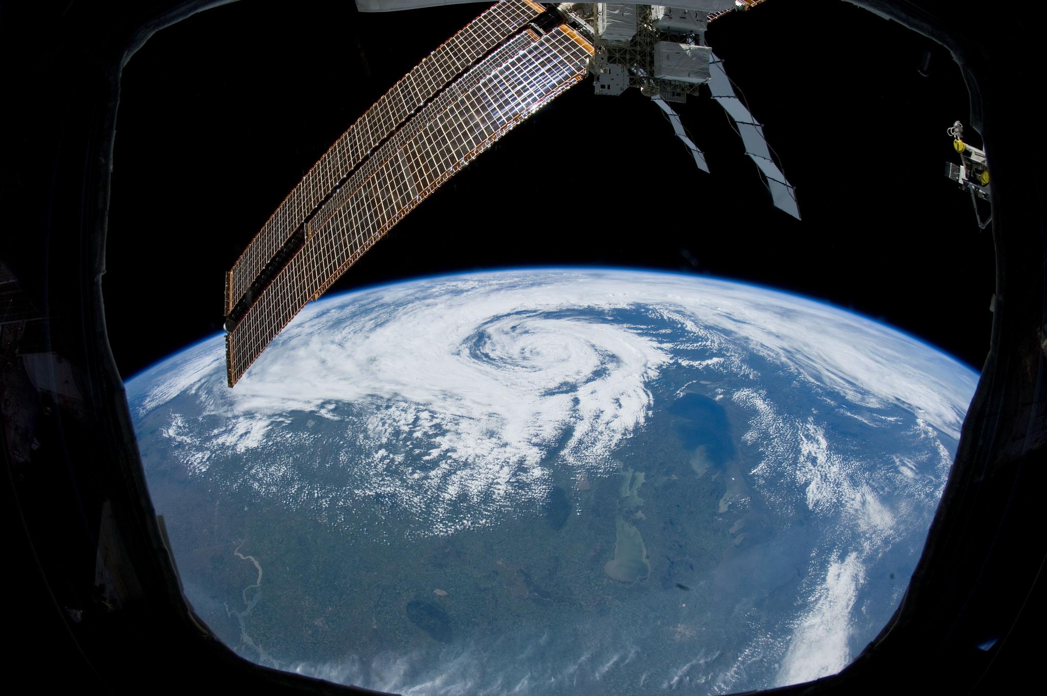 NASA space Non-Tropical Cyclone Over Canada (NASA, International Space Station, 06/27/12)