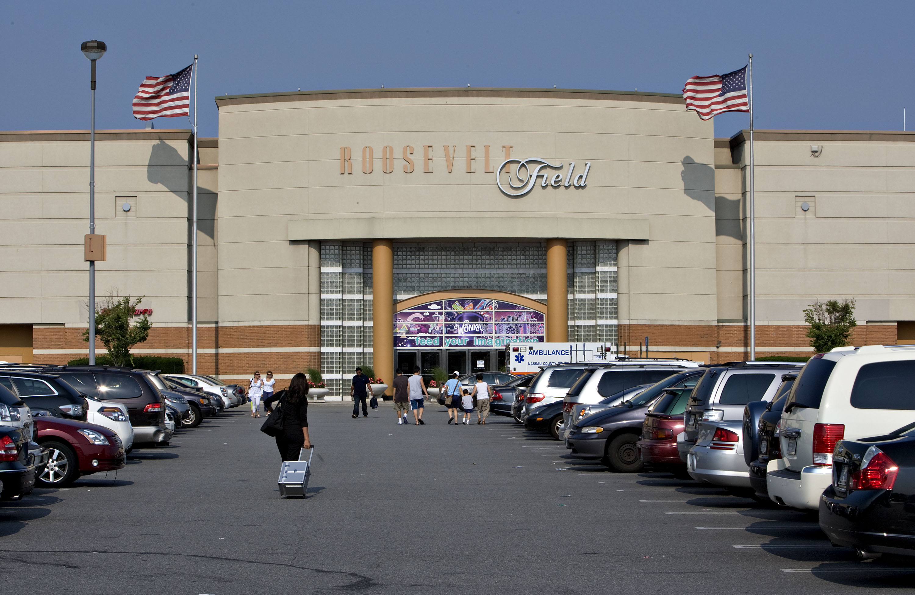 Shoppers enter Roosevelt Field Mall in Garden City, New York