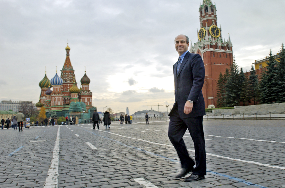 Browder in Moscow's Red Square in 2004