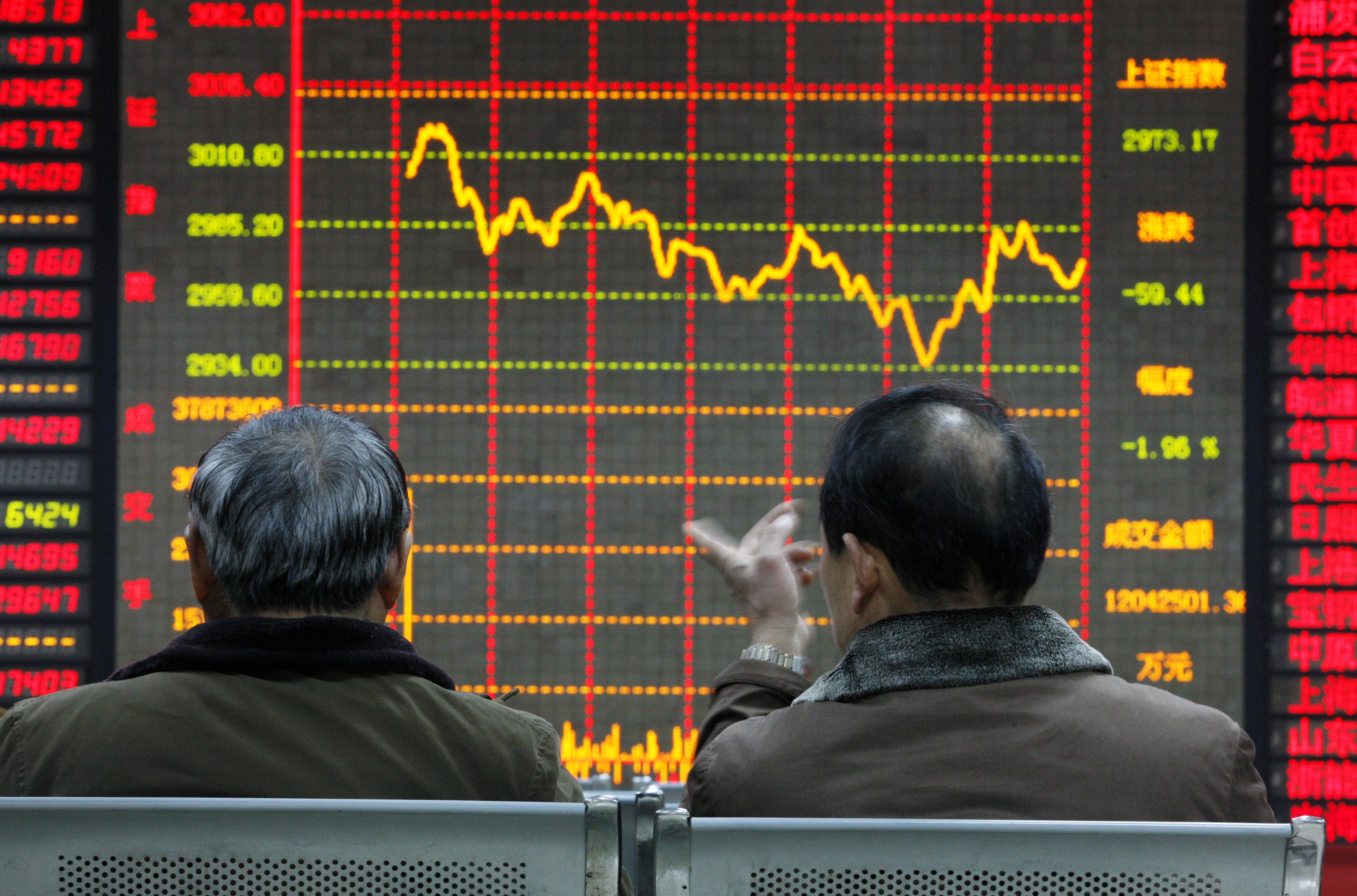 China stocks fall for worst two-day loss in 18 months on brokers