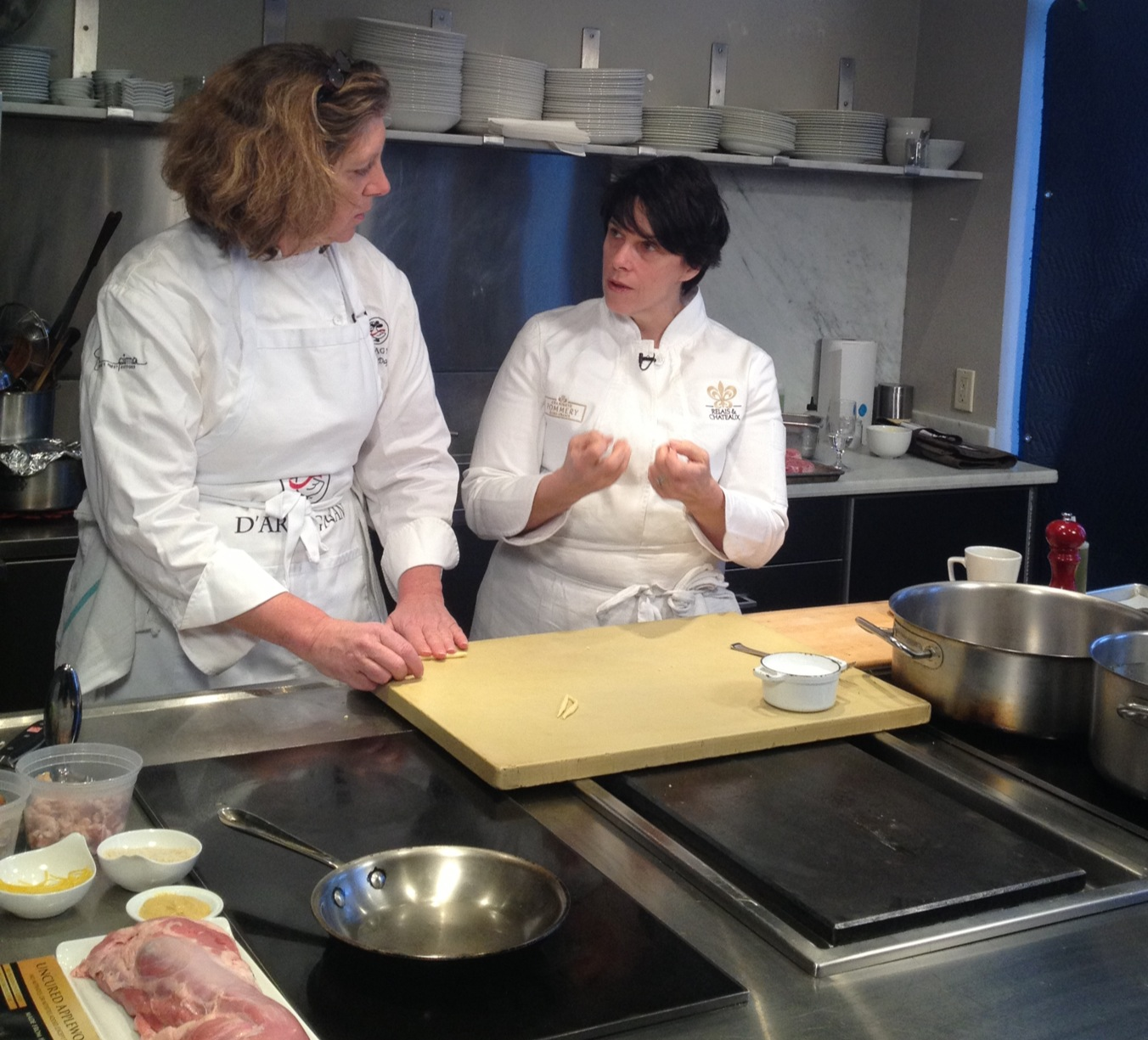 Ariane cooking with Barbara Lynch, a James Beard Award-winner and chef of Relais & Châteaux Grand