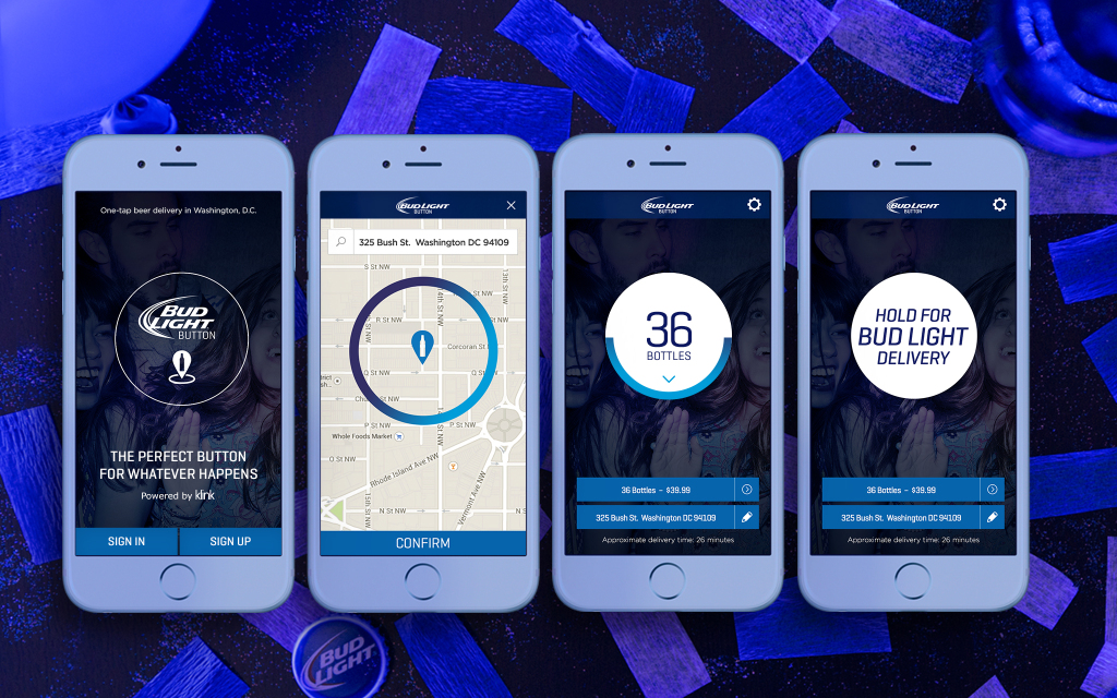Anheuser-Busch is launching a Bud Light delivery app in the Washington D.C. area.