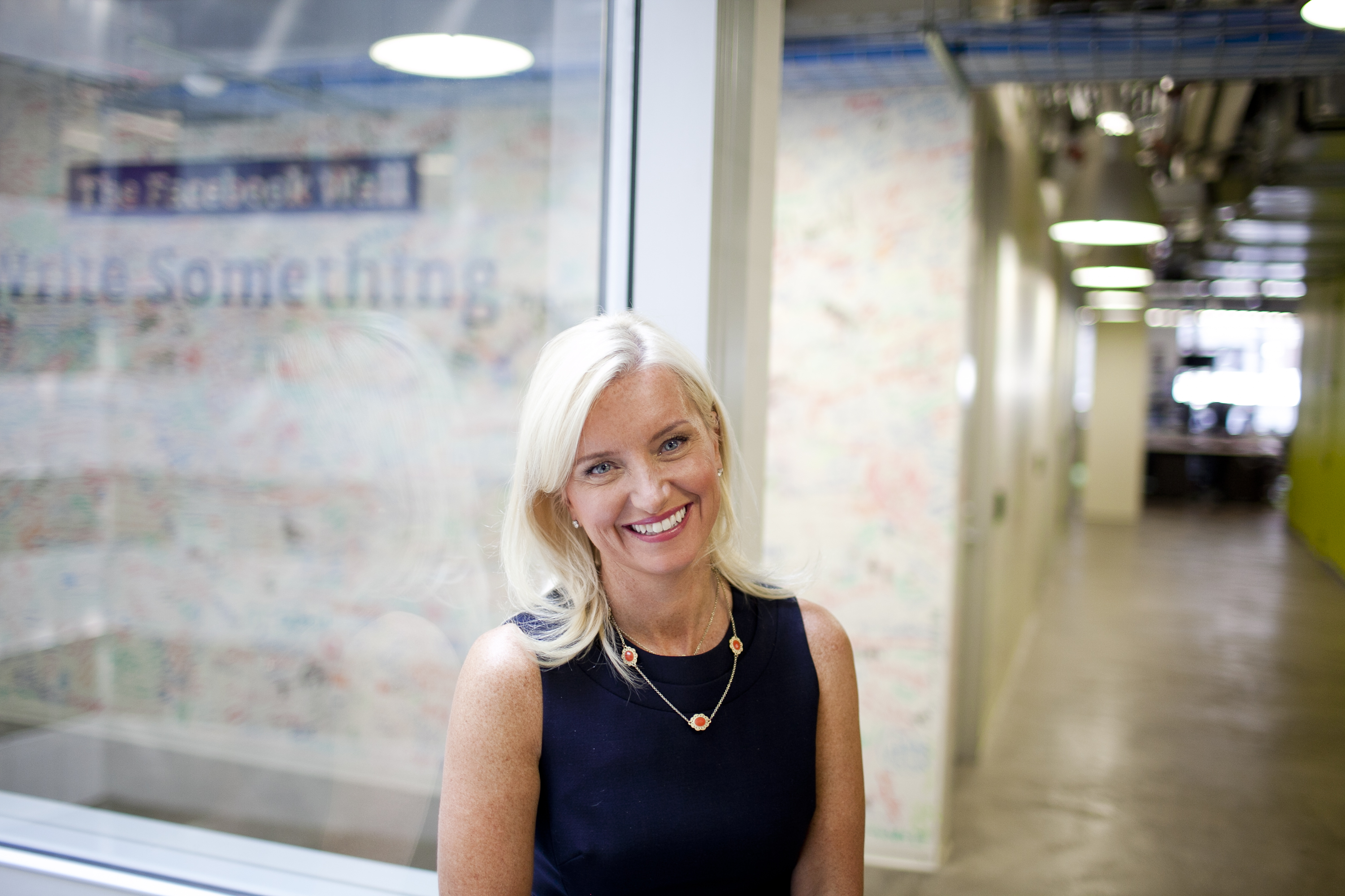 Carolyn Everson at the Facebook office in New York City.