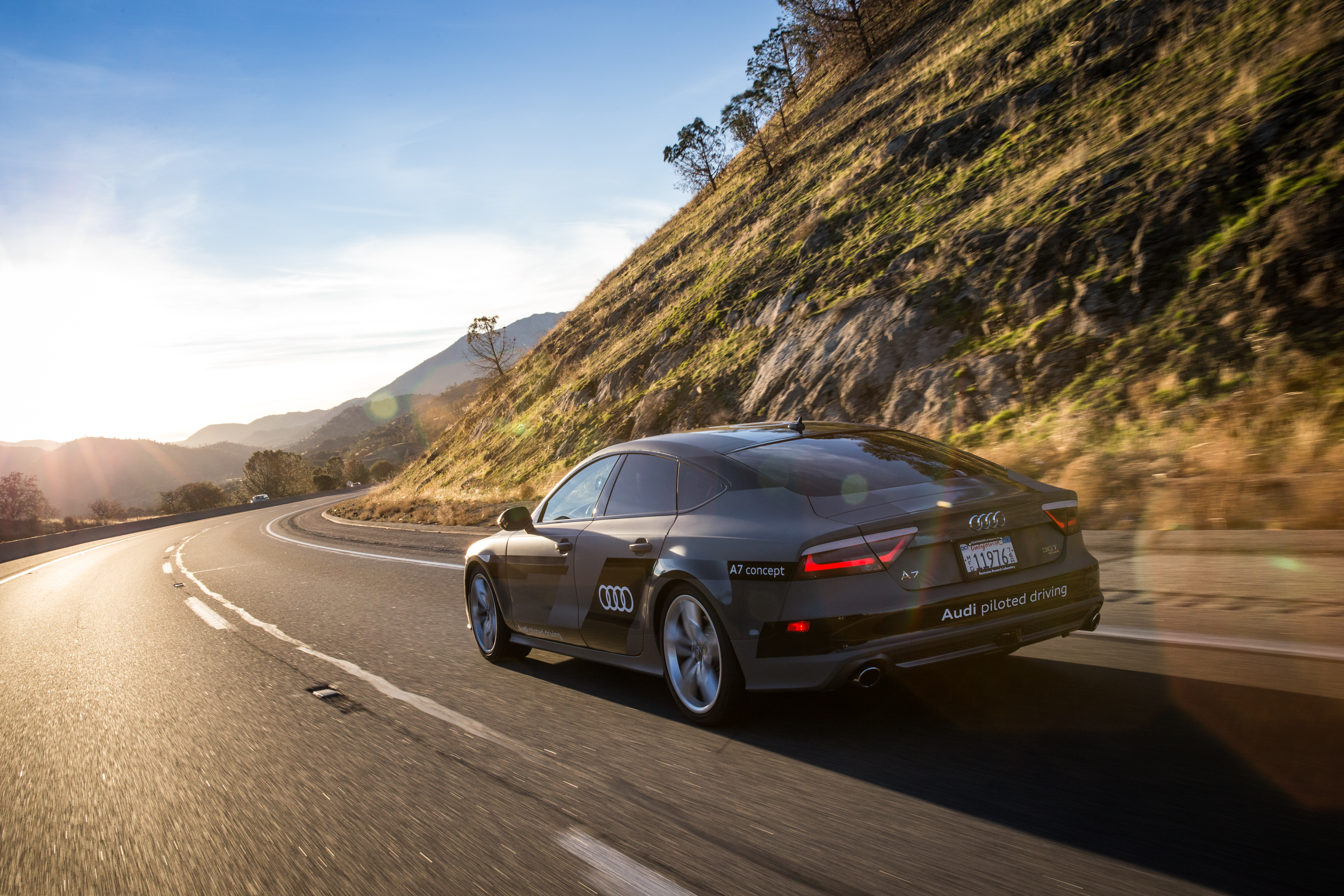 Audi's self-driving A7 made a  560-mile road trip from Silicon Valley to Las Vegas in 2015. A Fortune reporter was one of five journalists to experience an autonomous car.